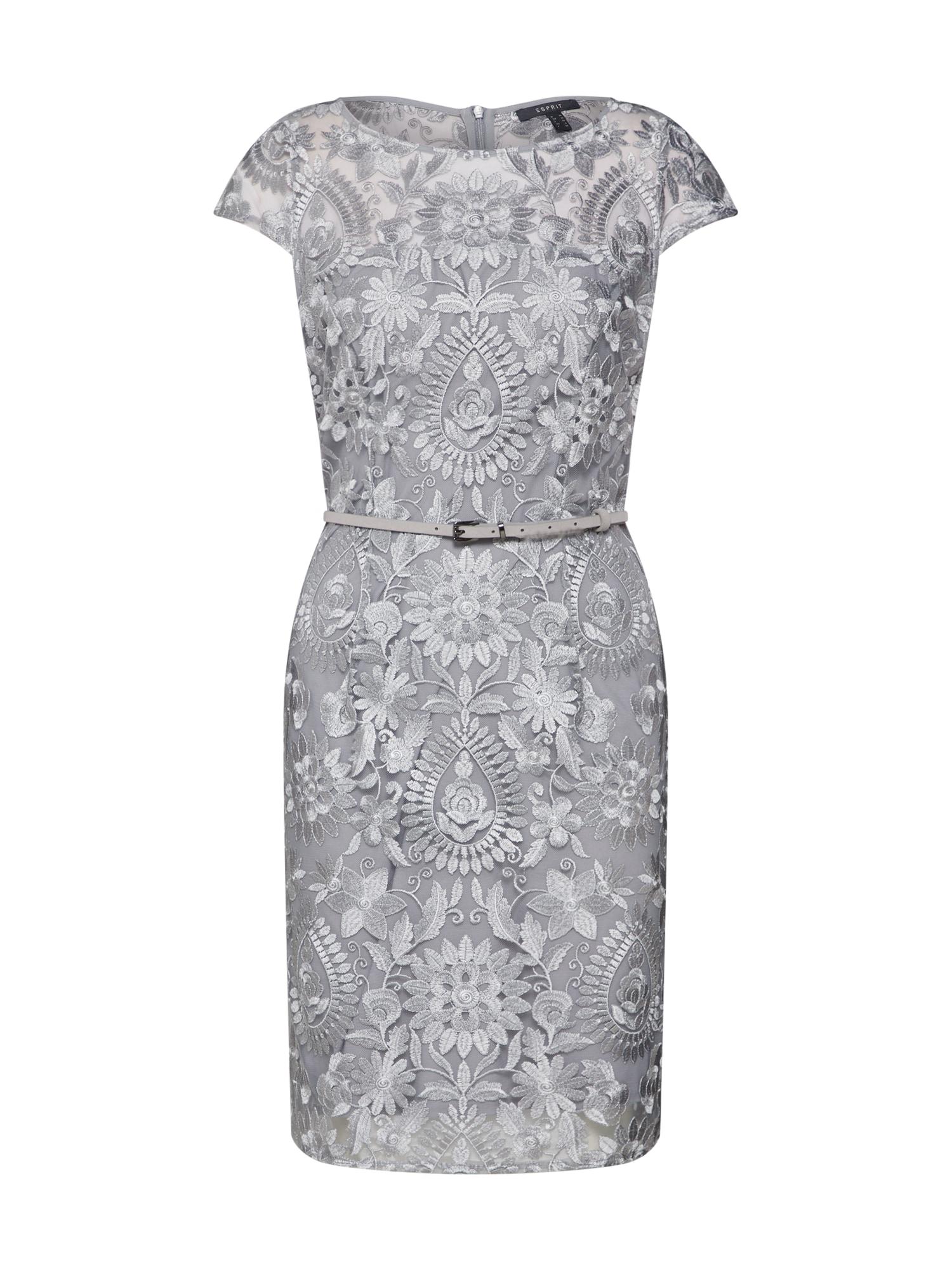 Pouzdrové šaty Paisley Floral stříbrná Esprit Collection