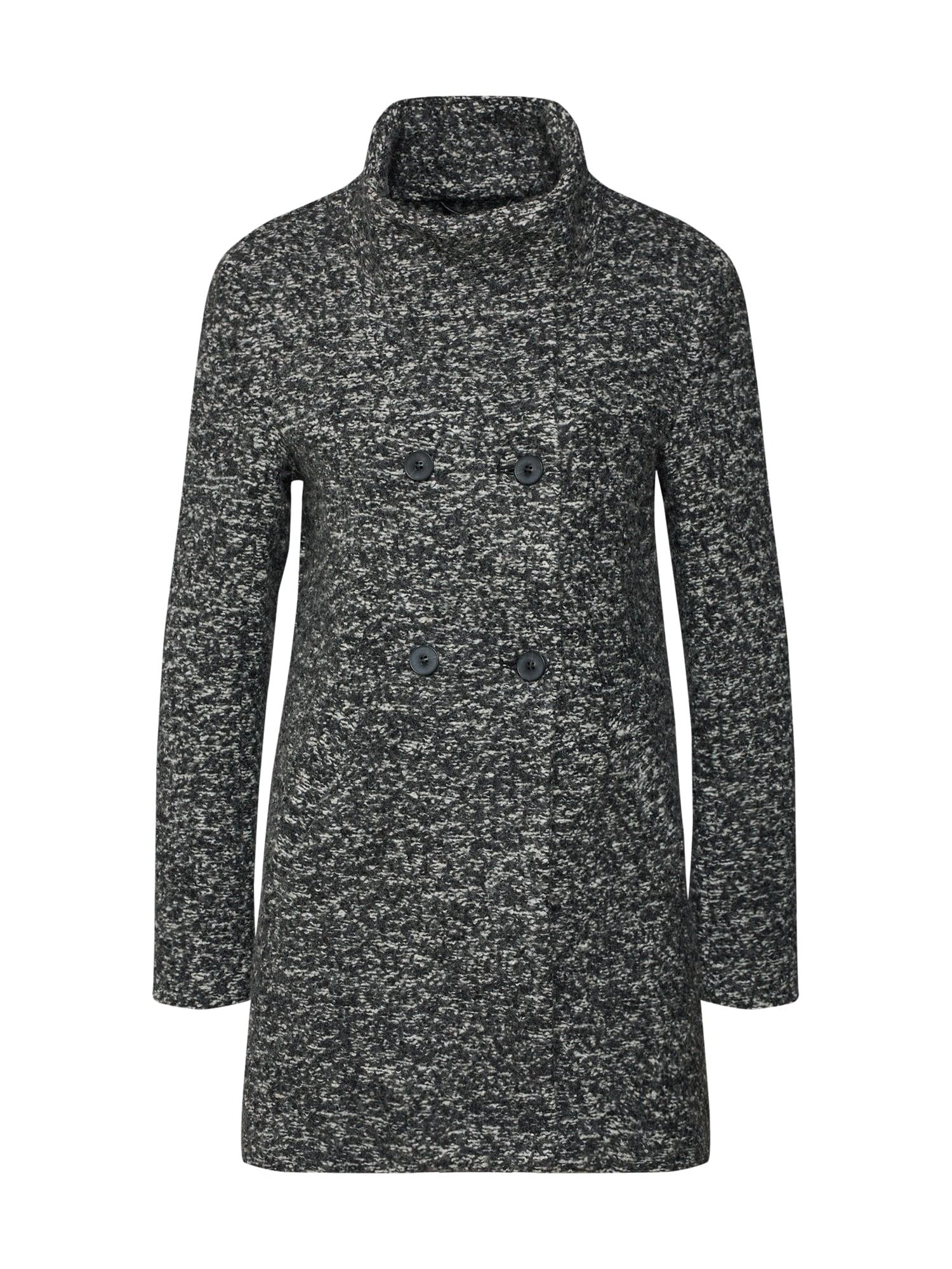 Přechodný kabát SOPHIA tmavě šedá šedý melír ONLY