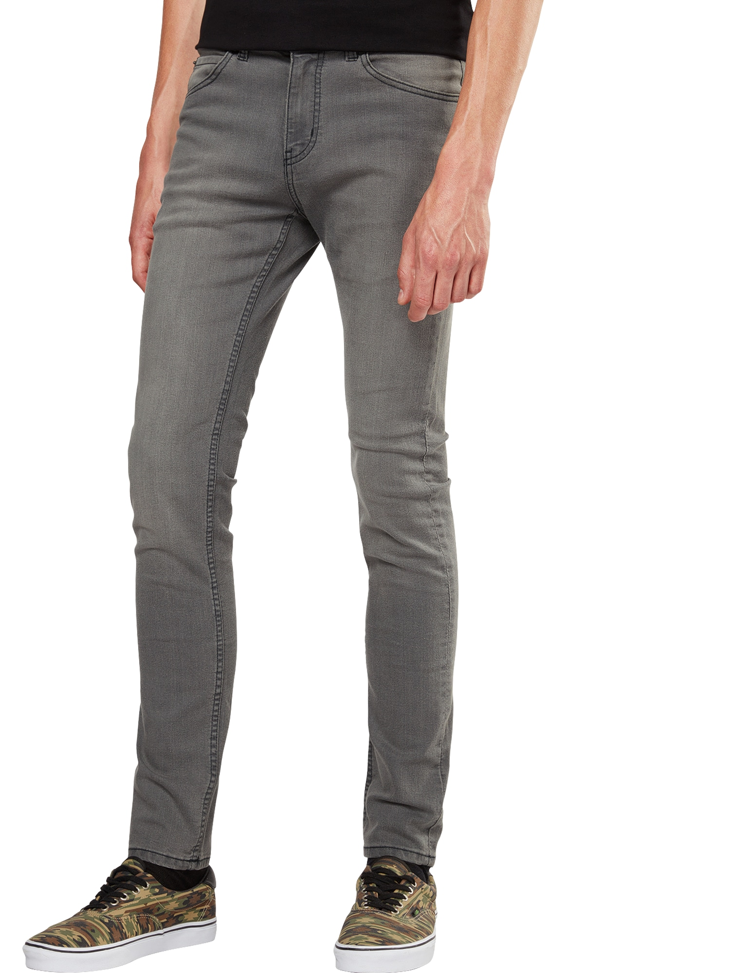 CHEAP MONDAY Heren Jeans grey denim