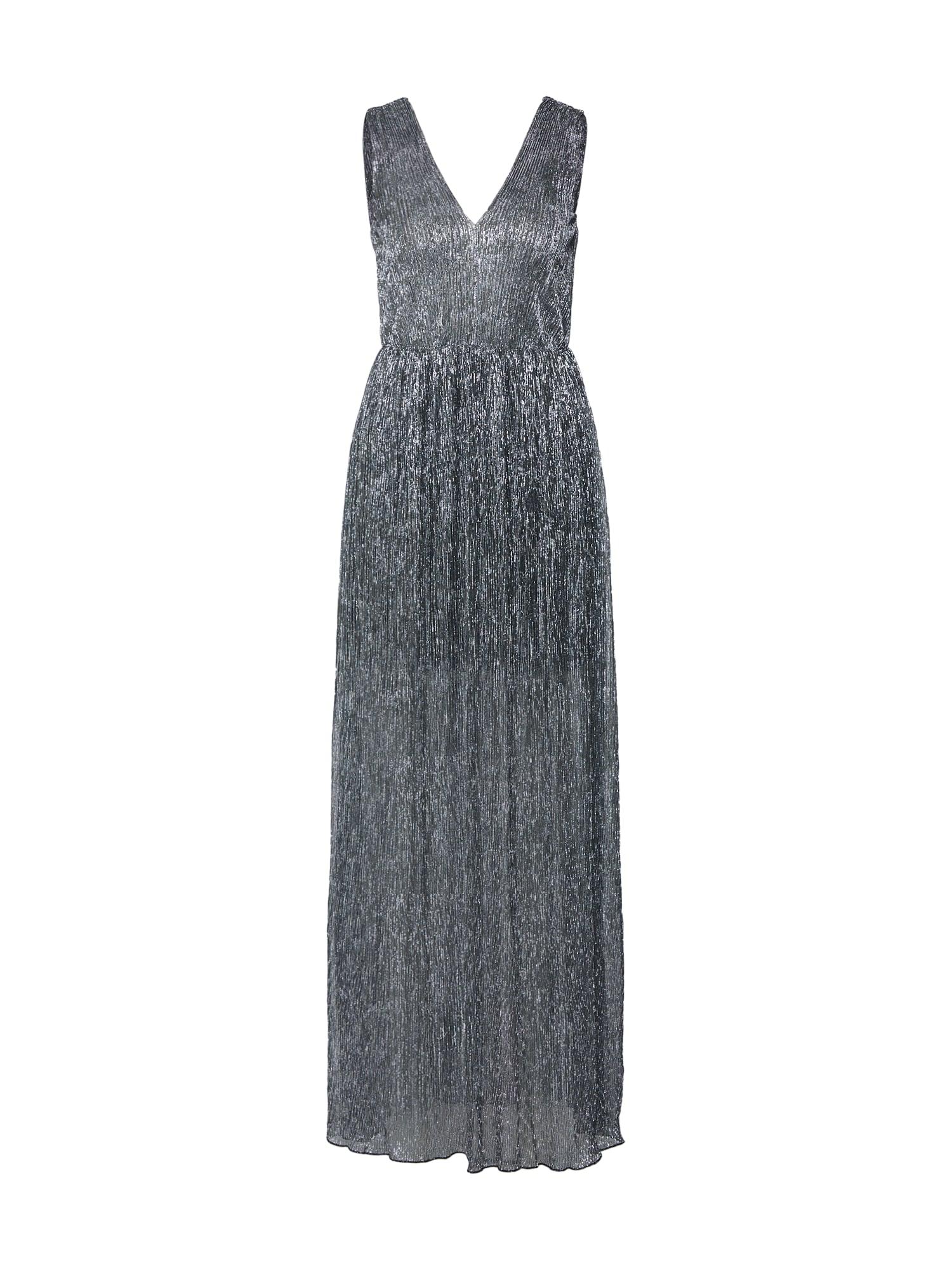 Společenské šaty Vestido Largo Dorado stříbrná Carolina Cavour