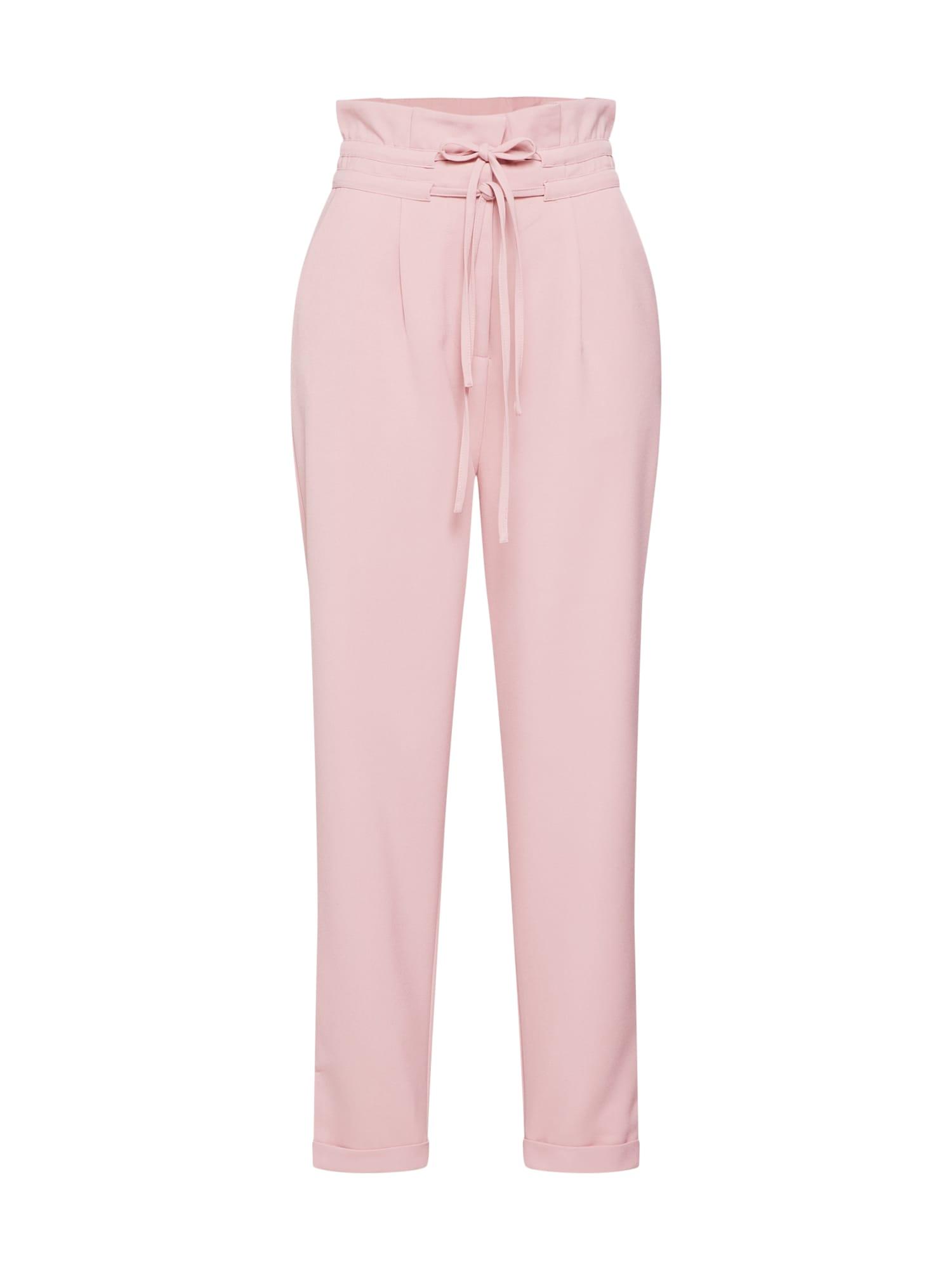 Kalhoty se sklady v pase růžová Lost Ink
