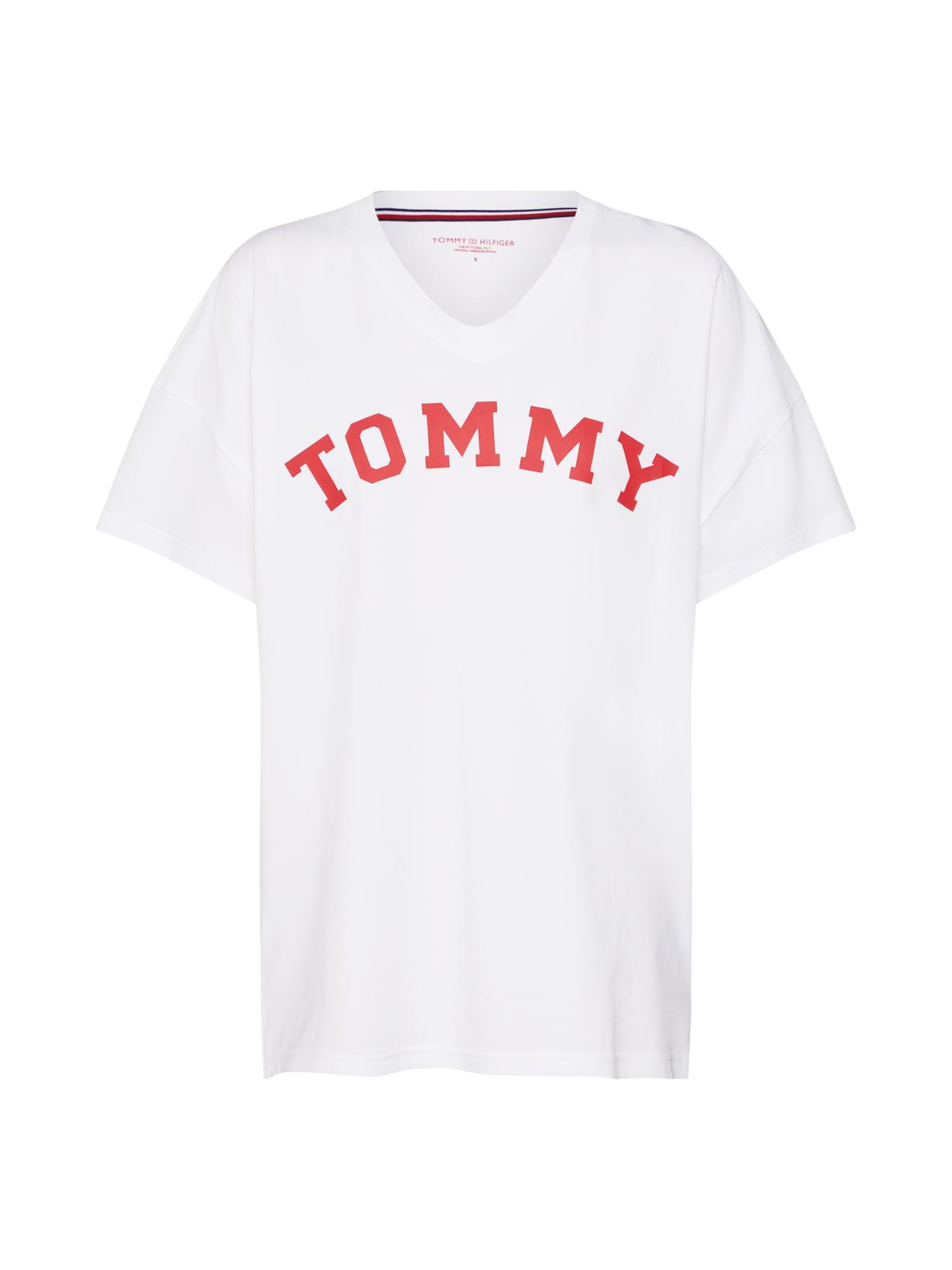 Tričko na spaní červená bílá Tommy Hilfiger Underwear