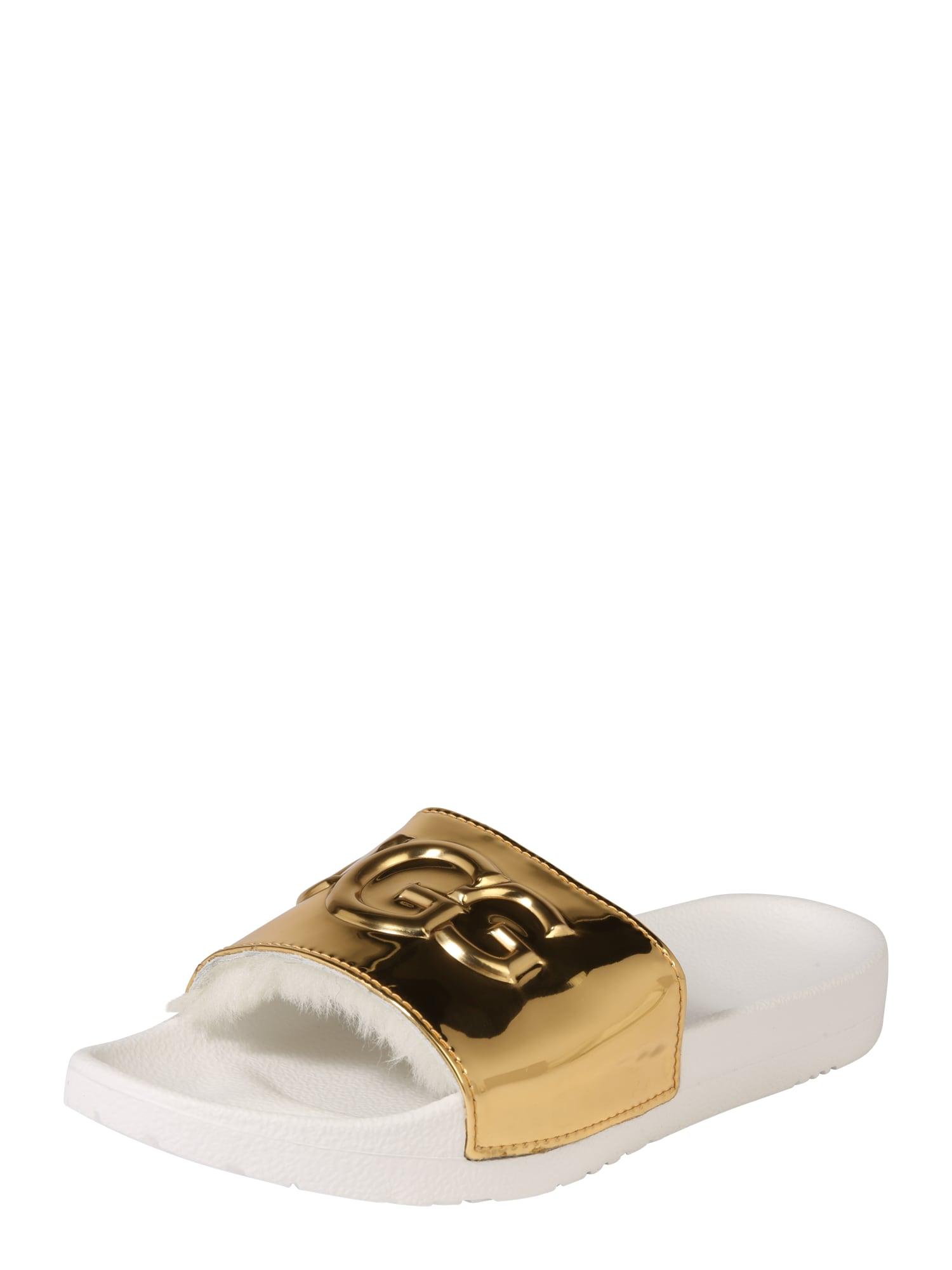 Pantofle Royale Graphic metallic zlatá UGG