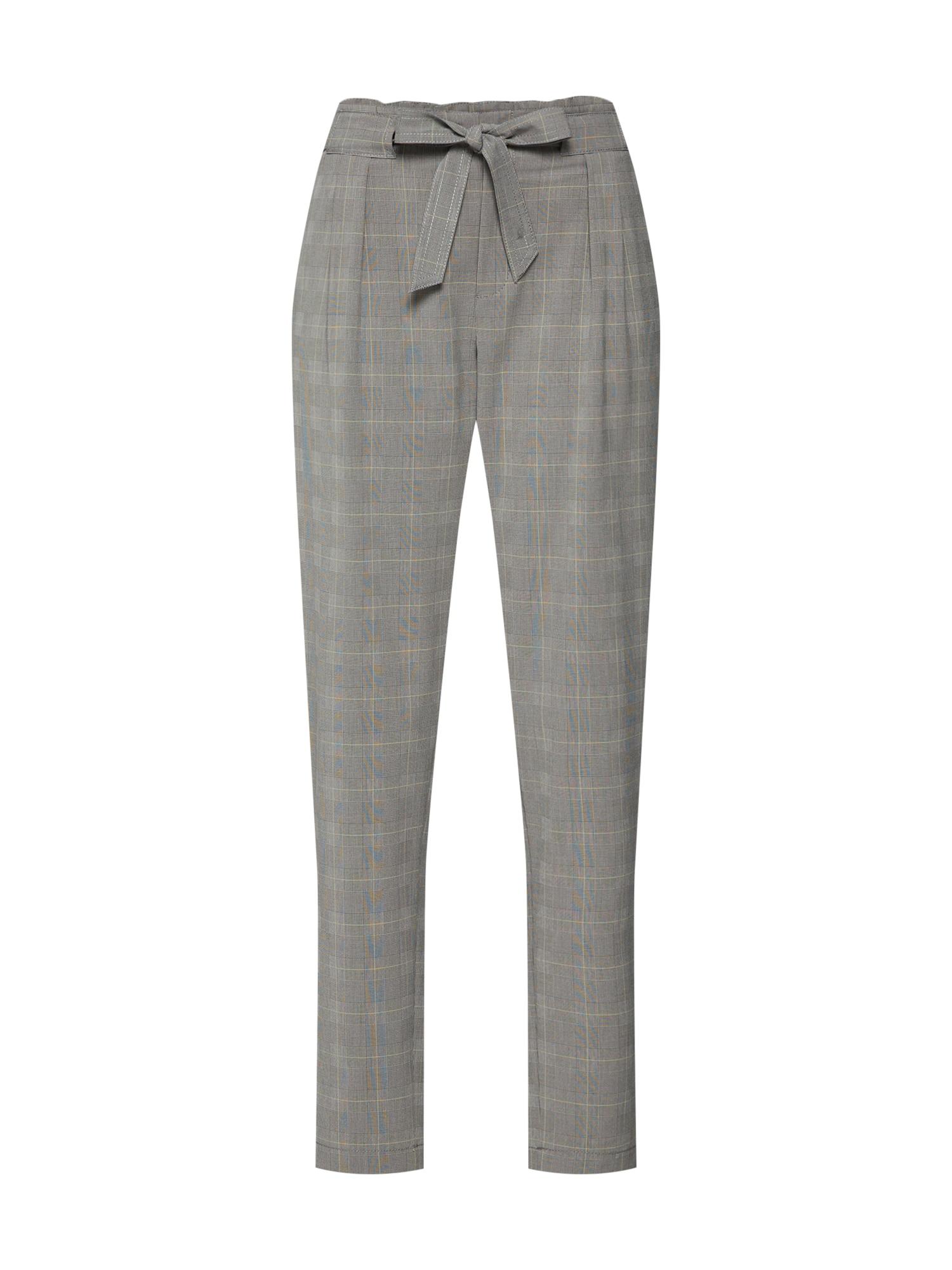 Kalhoty se sklady v pase světle šedá ESPRIT