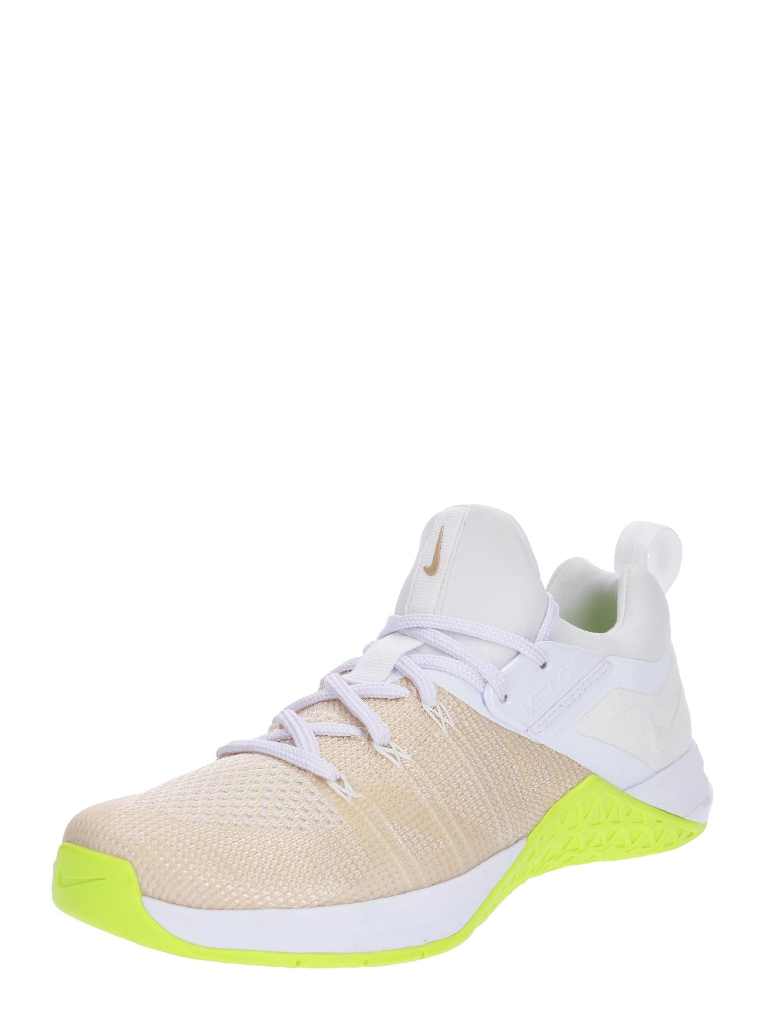 Sportovní boty Metcon Flyknit 3 žlutá bílá NIKE