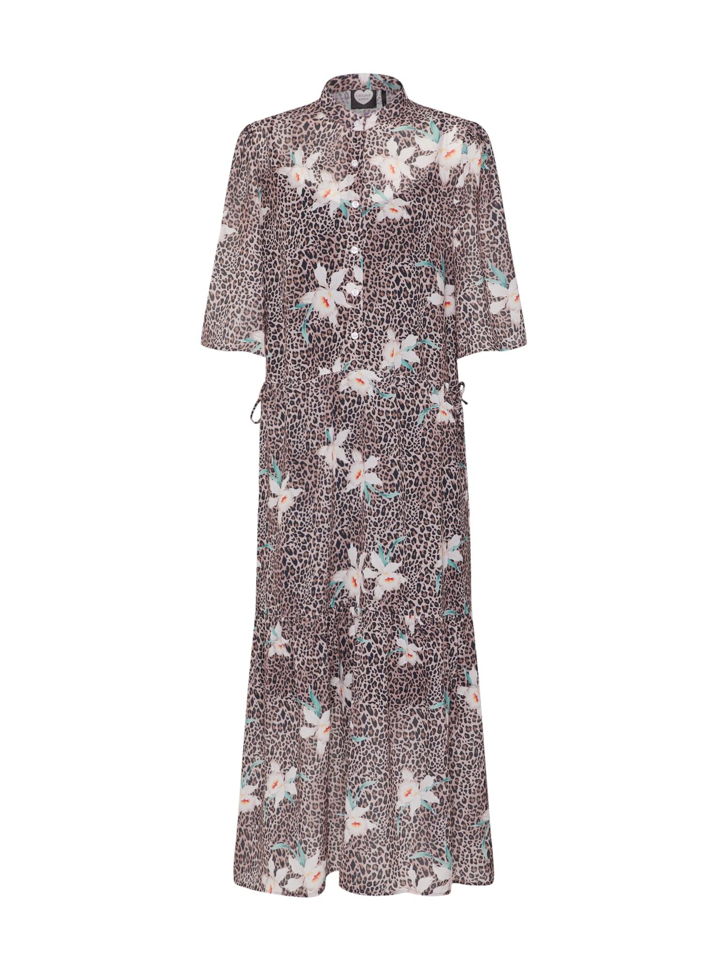 Šaty DR YUCCA béžová hnědá mix barev CATWALK JUNKIE