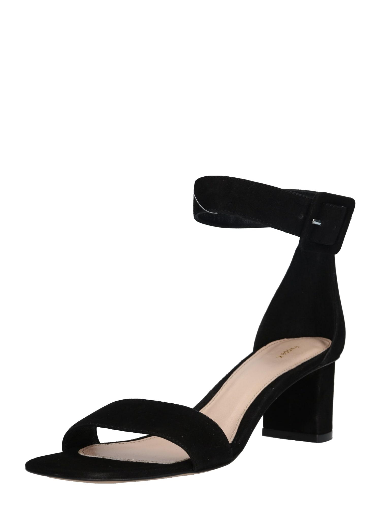 Páskové sandály Frances Mid Heel Sandal černá Filippa K