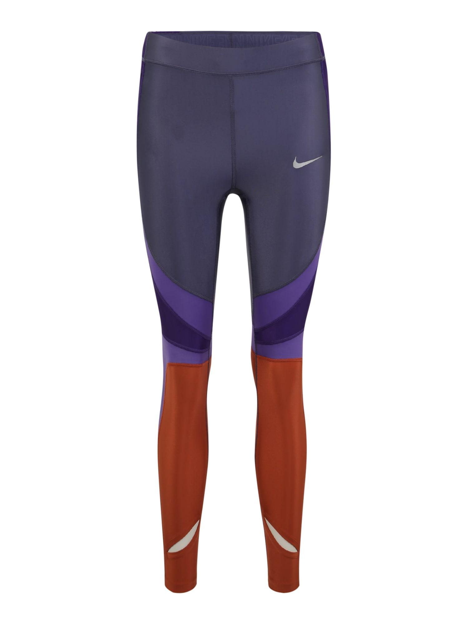 Sportovní kalhoty W NK PWR SPEED TGHT 7_8 CL písková fialová NIKE