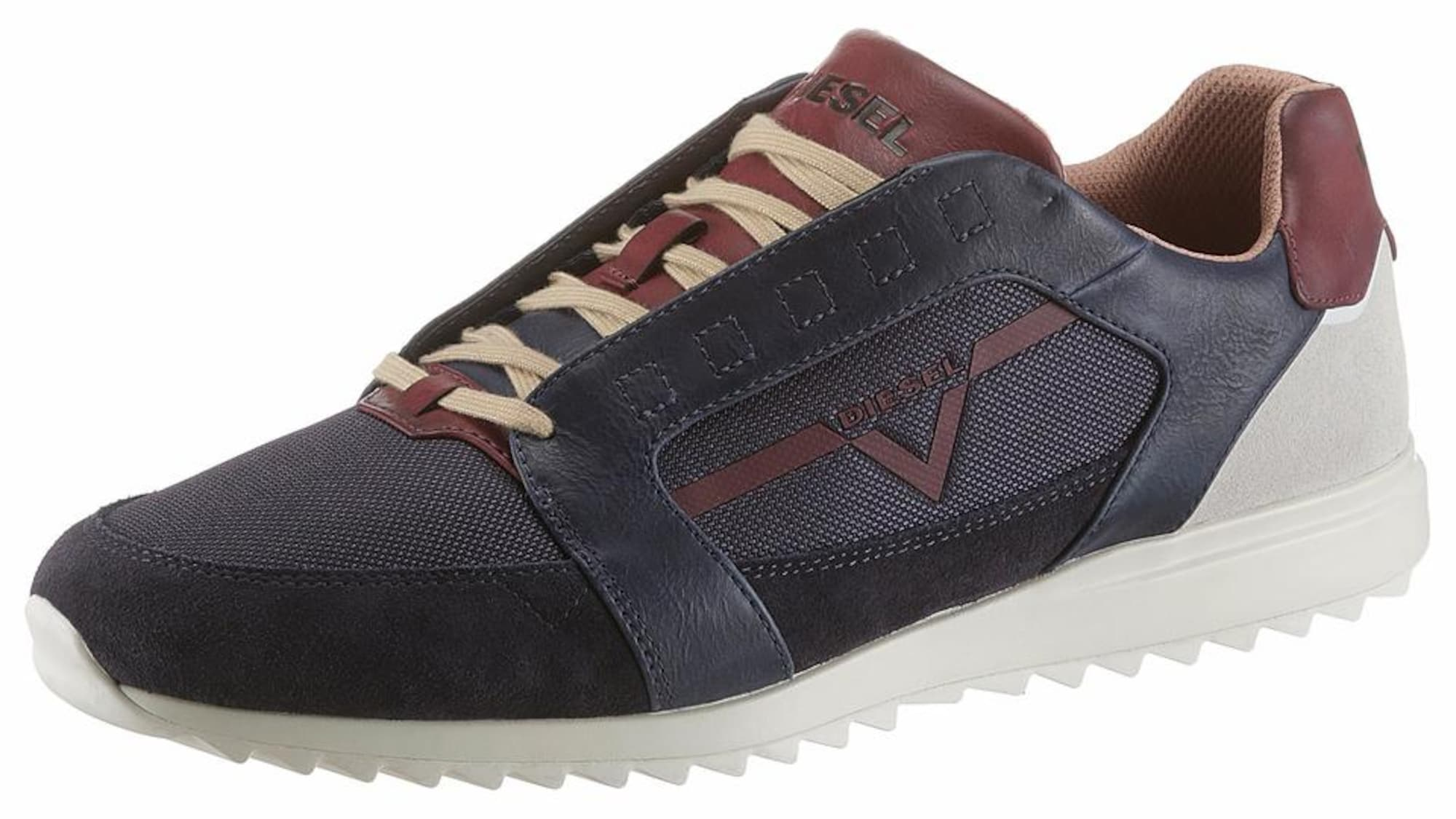 DIESEL Heren Sneakers laag S-Fleett navy donkerrood