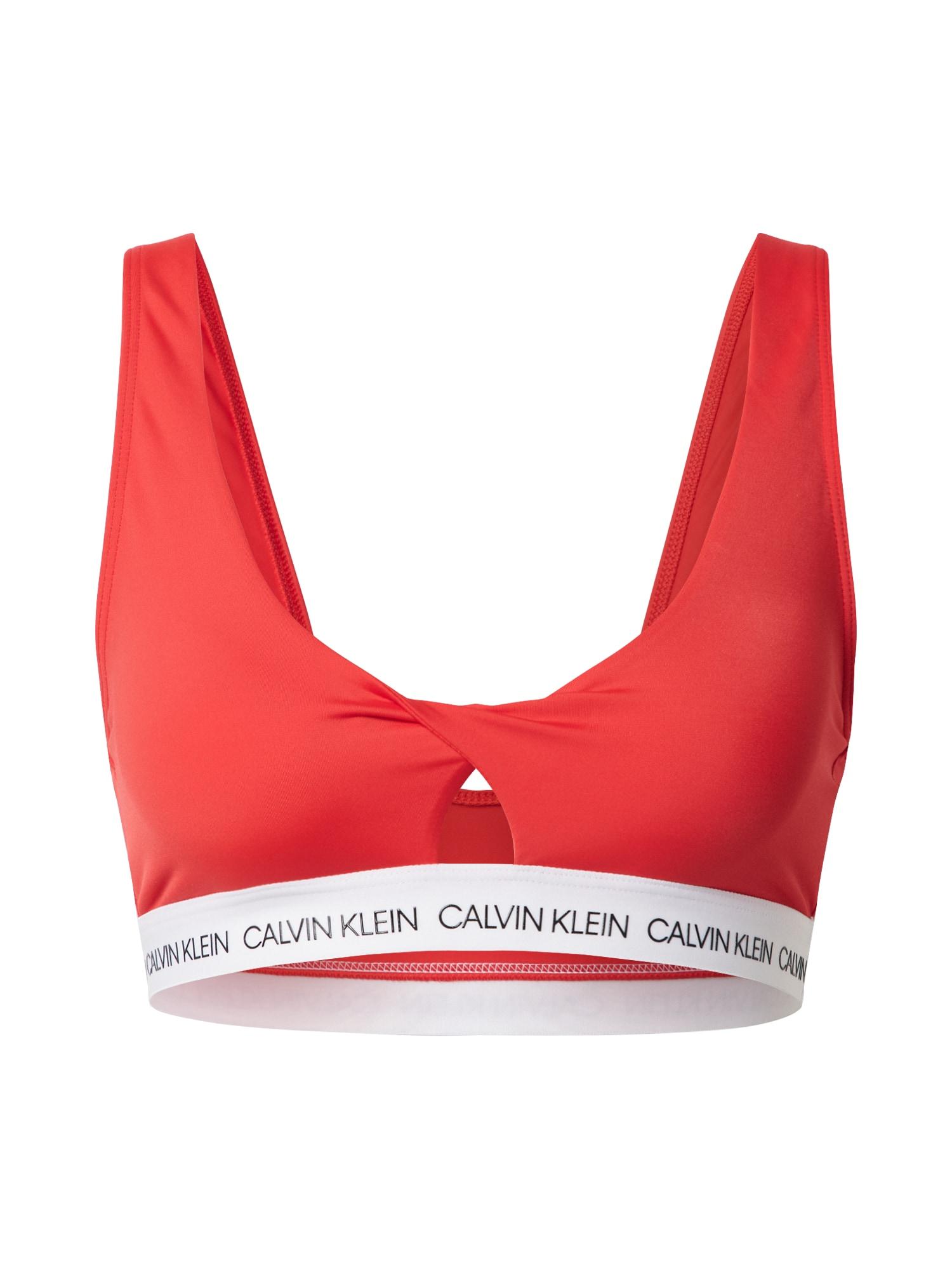 Calvin Klein Swimwear Horní díl plavek 'TWIST BRALETTE'  červená