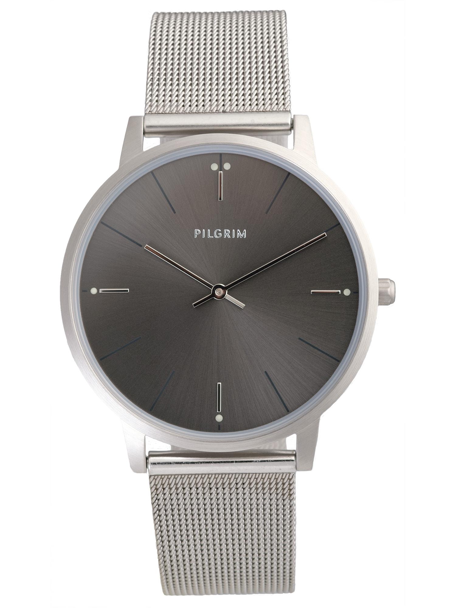 Analogové hodinky Aidon stříbrná Pilgrim