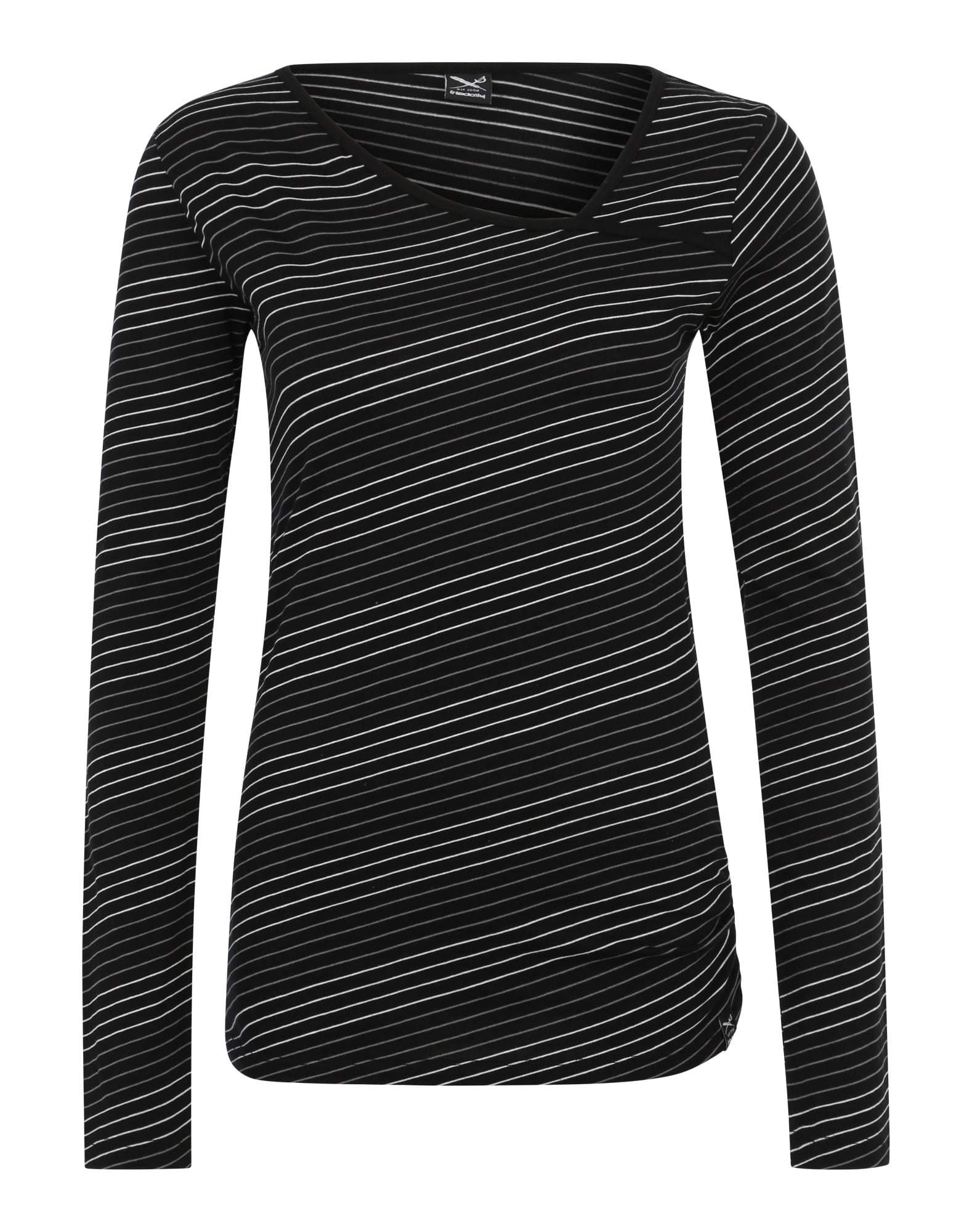 Tričko Asym Stripe 4 černá bílá Iriedaily