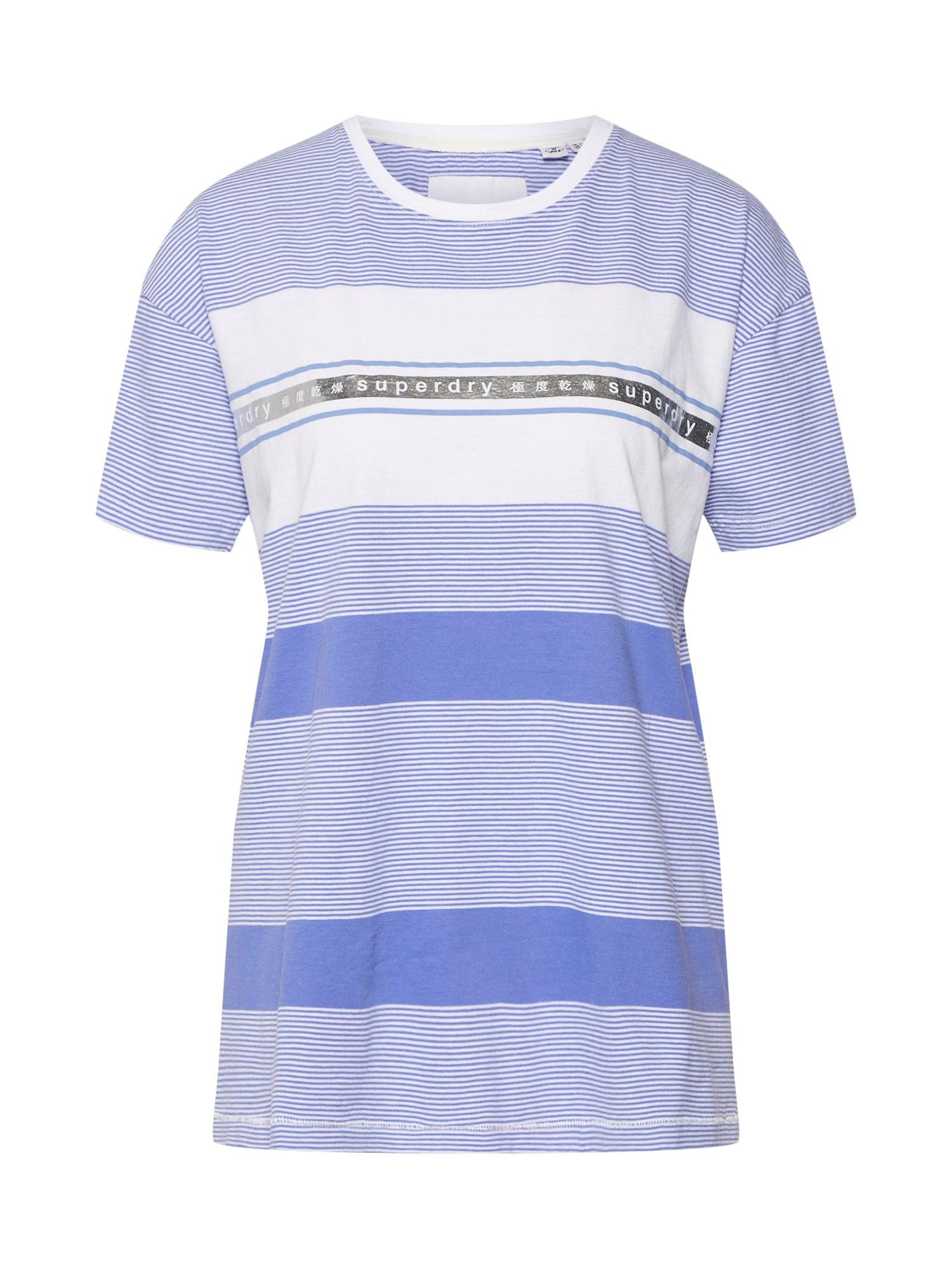 Tričko TAPE STRIPE PORTLAND modrá bílá Superdry