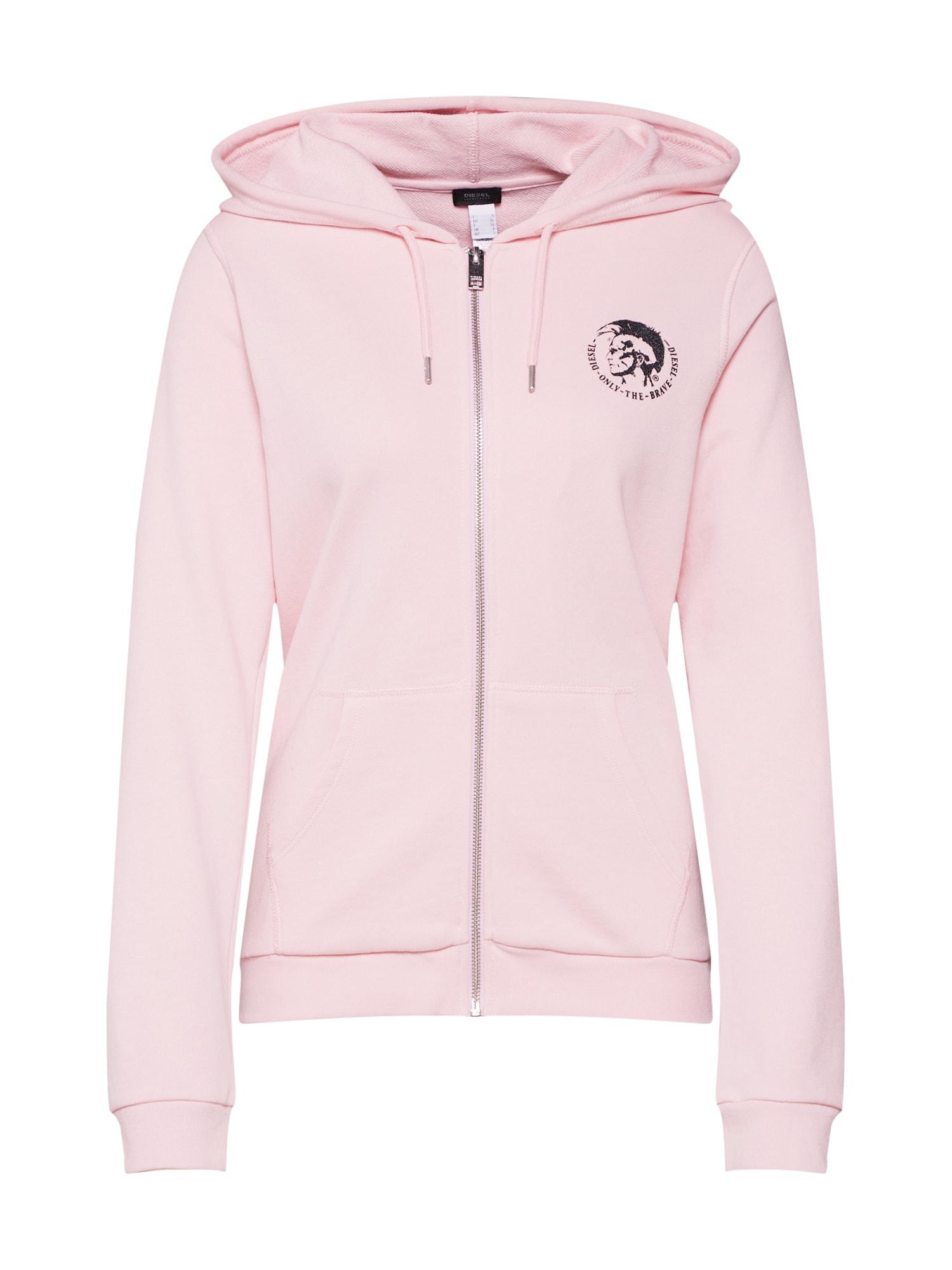 Mikina s kapucí Uflt-Brandal růžová DIESEL