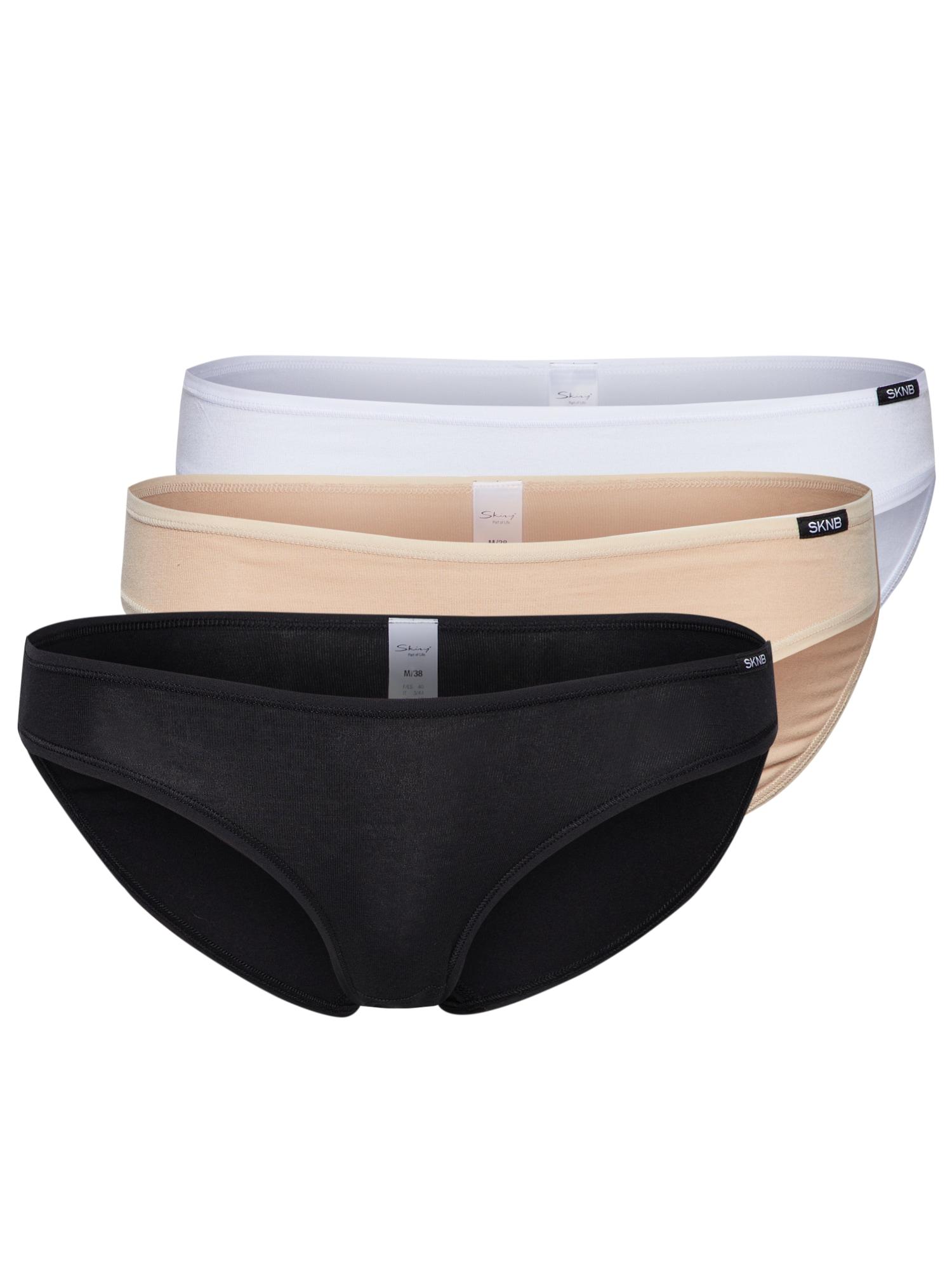 Kalhotky tělová černá bílá Skiny