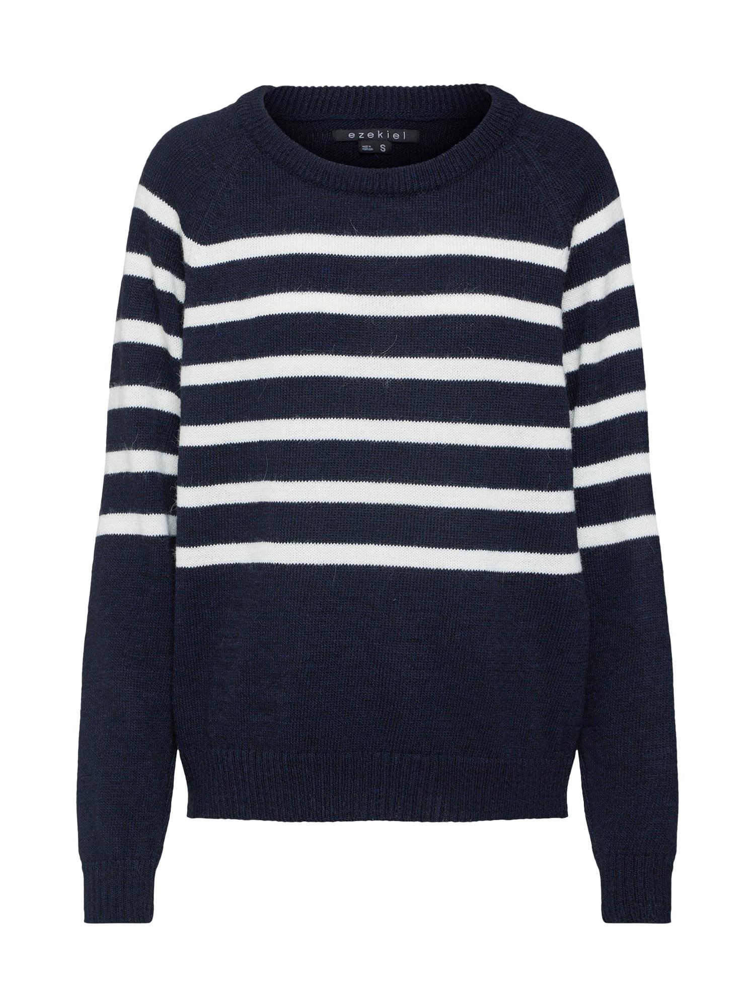 Svetr Piper Crewneck Knit Sweater námořnická modř bílá Ezekiel