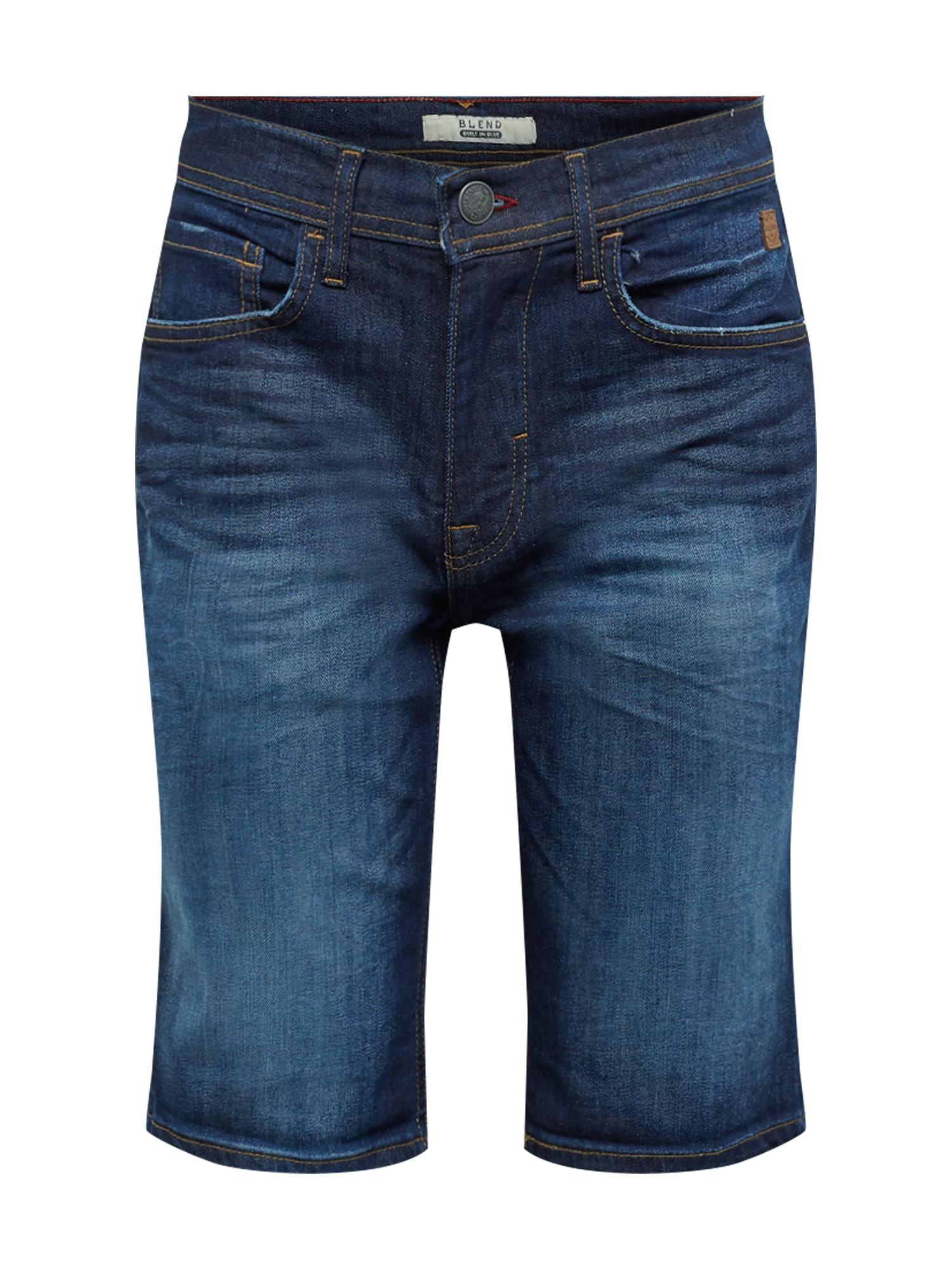 Džíny Denim Shorts Twister Slim tmavě modrá BLEND