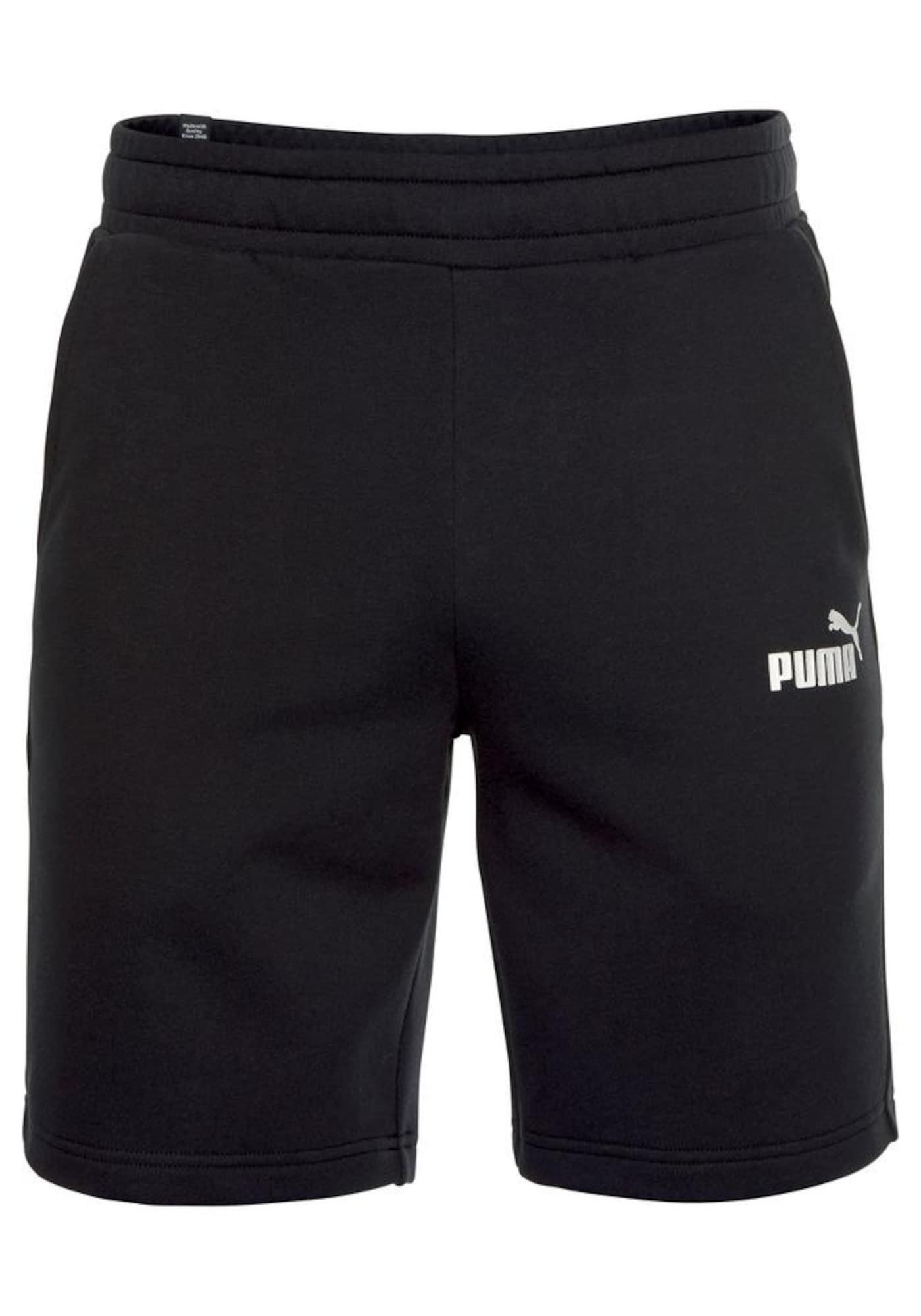 Sportovní kalhoty ESS SWEAT 10 BERMUDAS TR černá PUMA