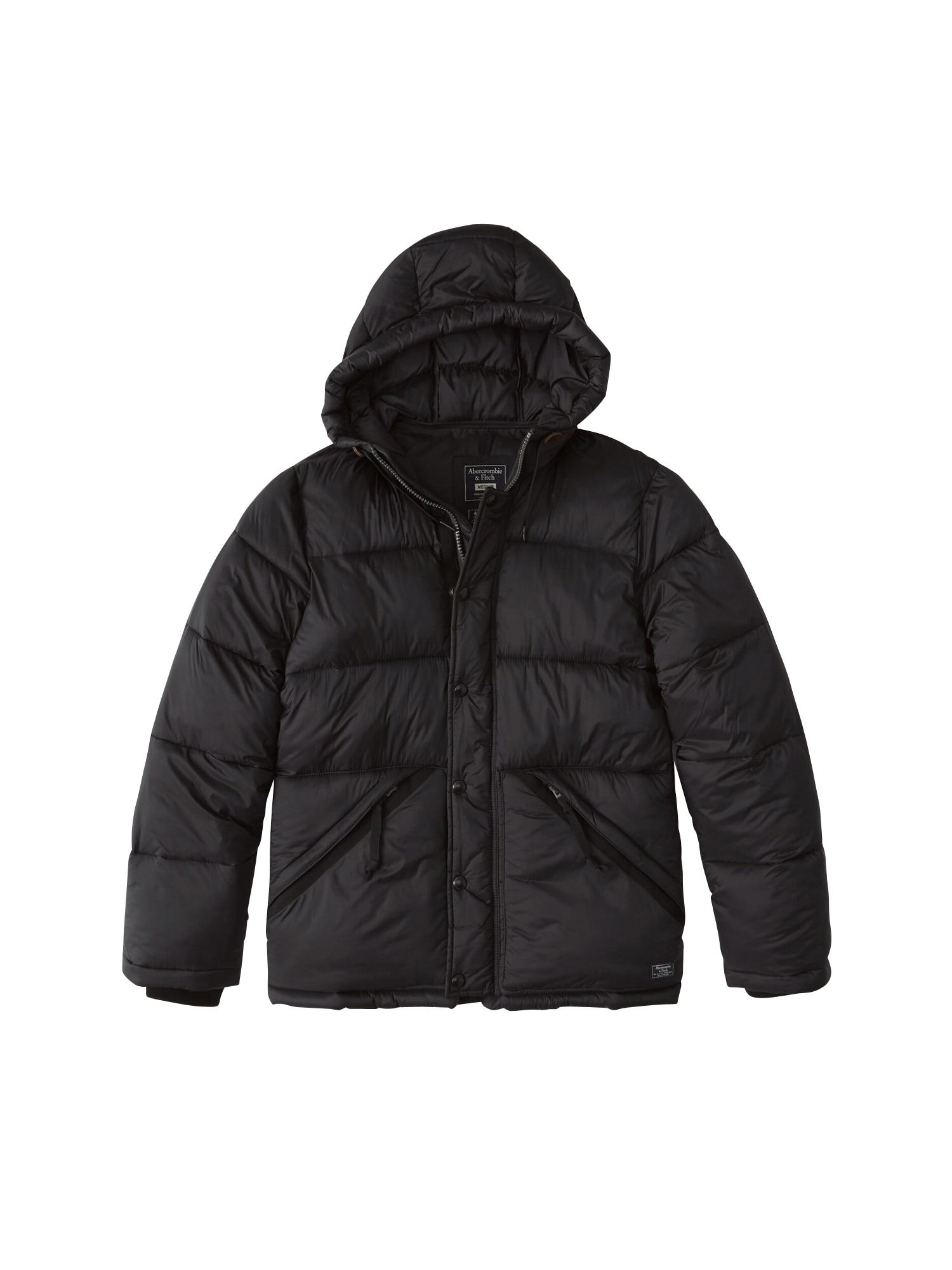 Abercrombie & Fitch Zimní bunda ' xm19-ultra puffer 2cc '  černá