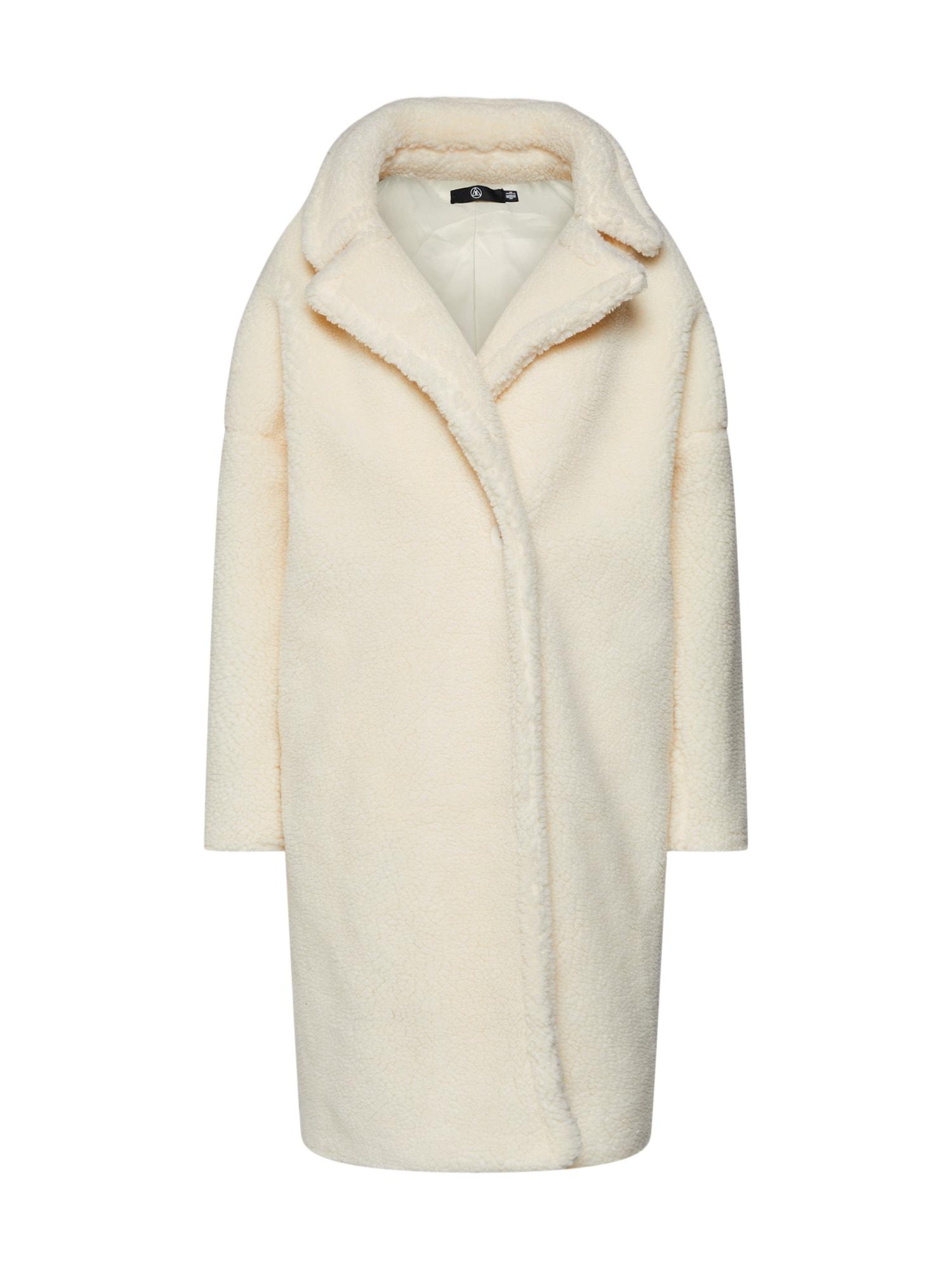 Přechodný kabát LONGLINE BORG krémová Missguided