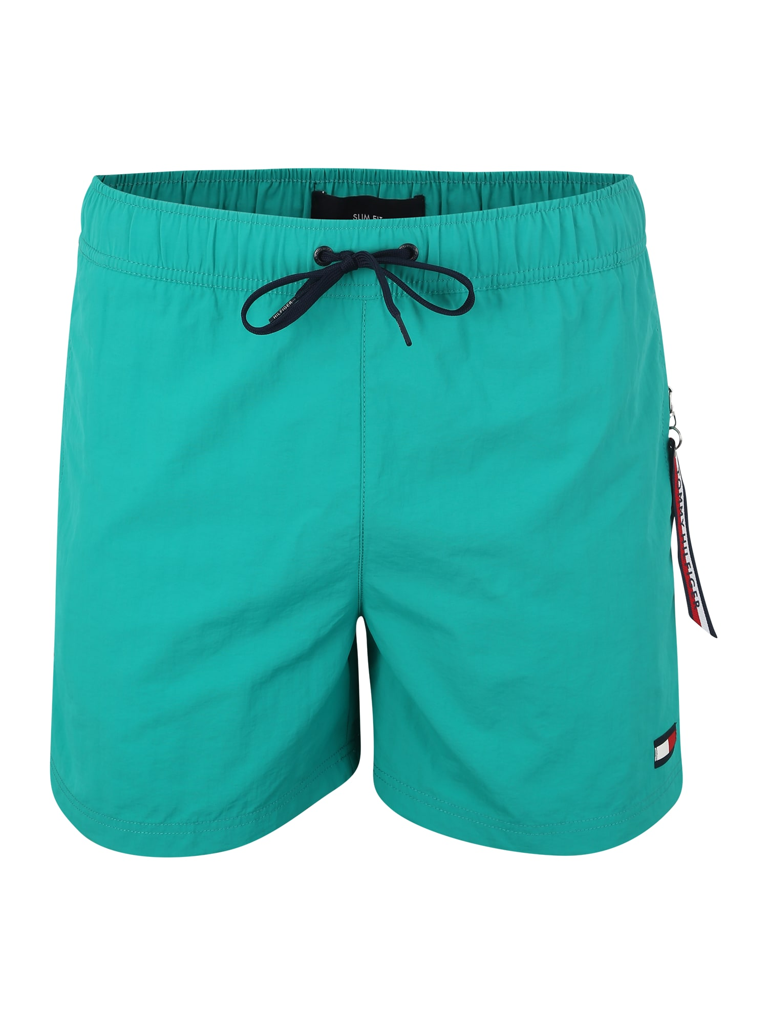 Plavecké šortky SF MEDIUM DRAWSTRING nefritová Tommy Hilfiger Underwear