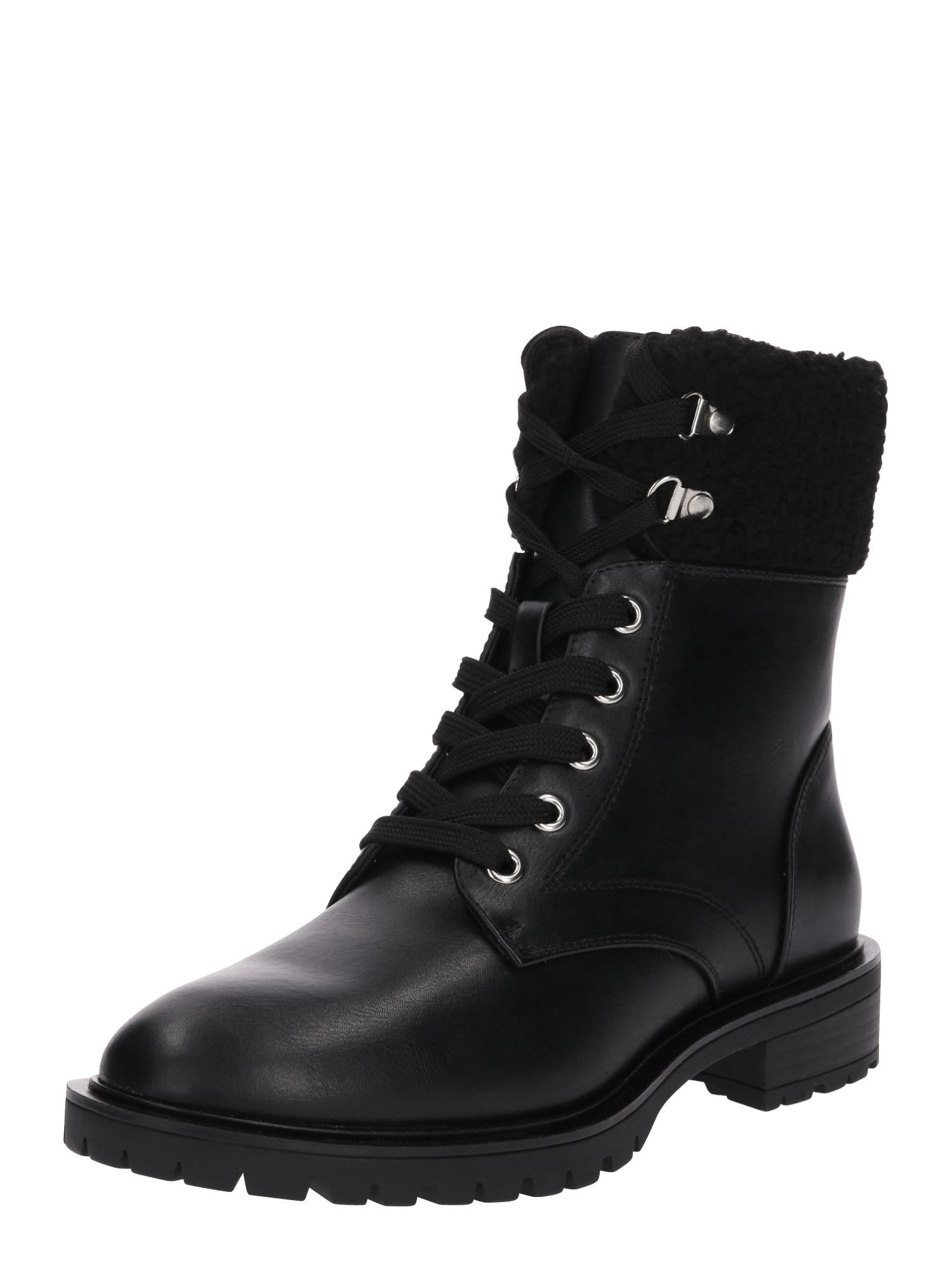 Šněrovací boty 17049H-7 černá Even&odd
