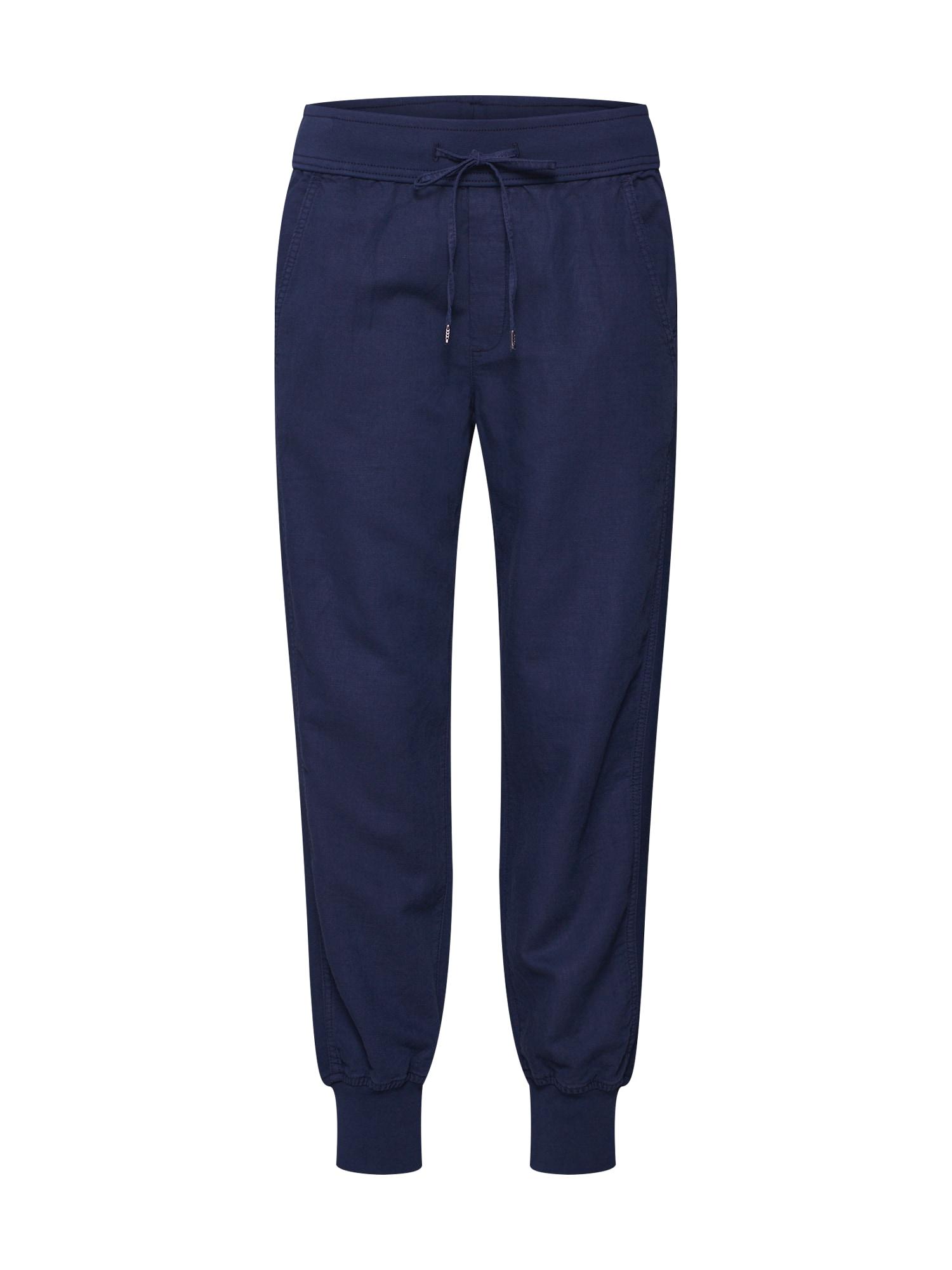 Kalhoty LINEN JOGGER námořnická modř GAP