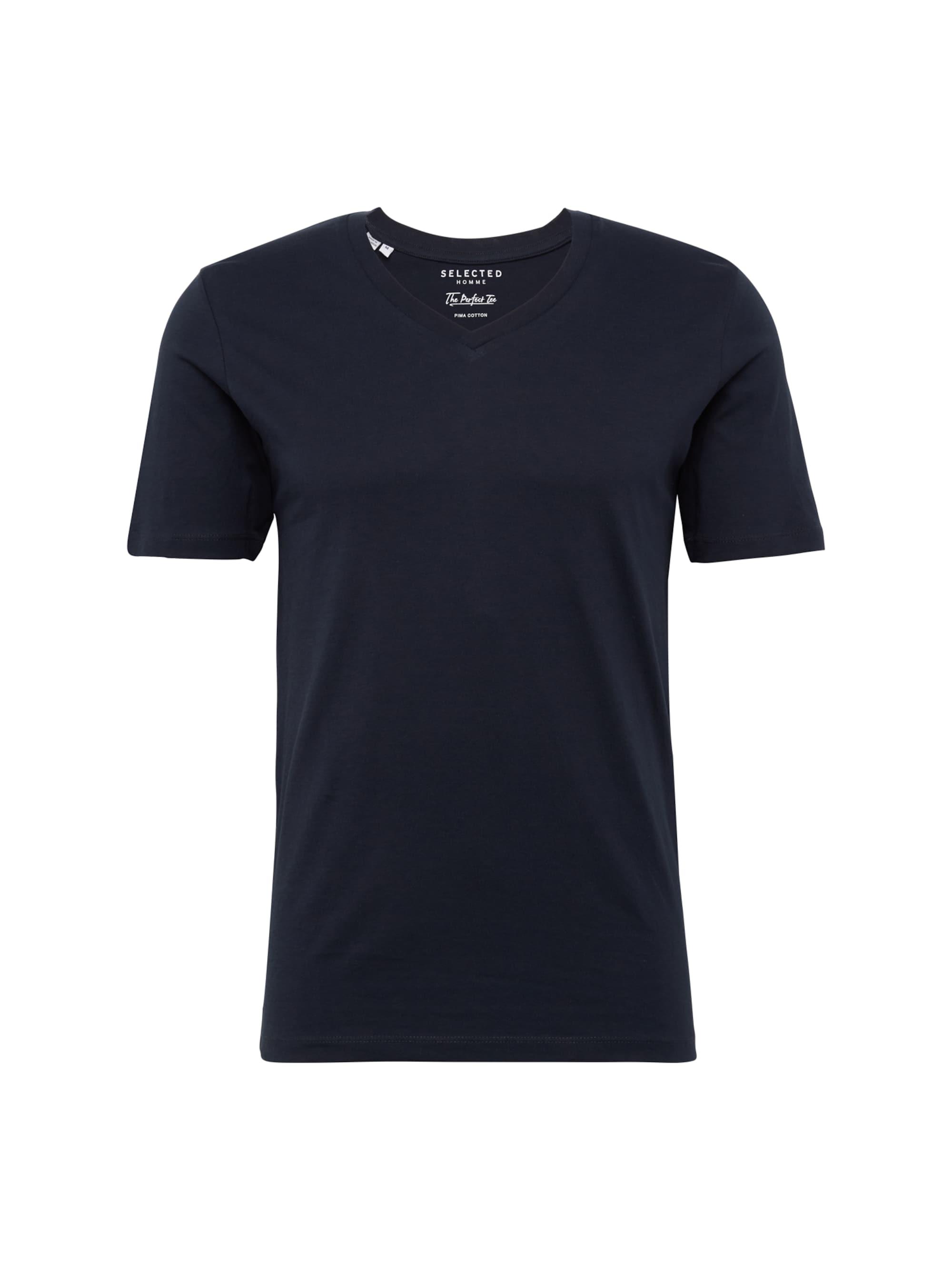 selected homme - T-Shirt V-Ausschnitt