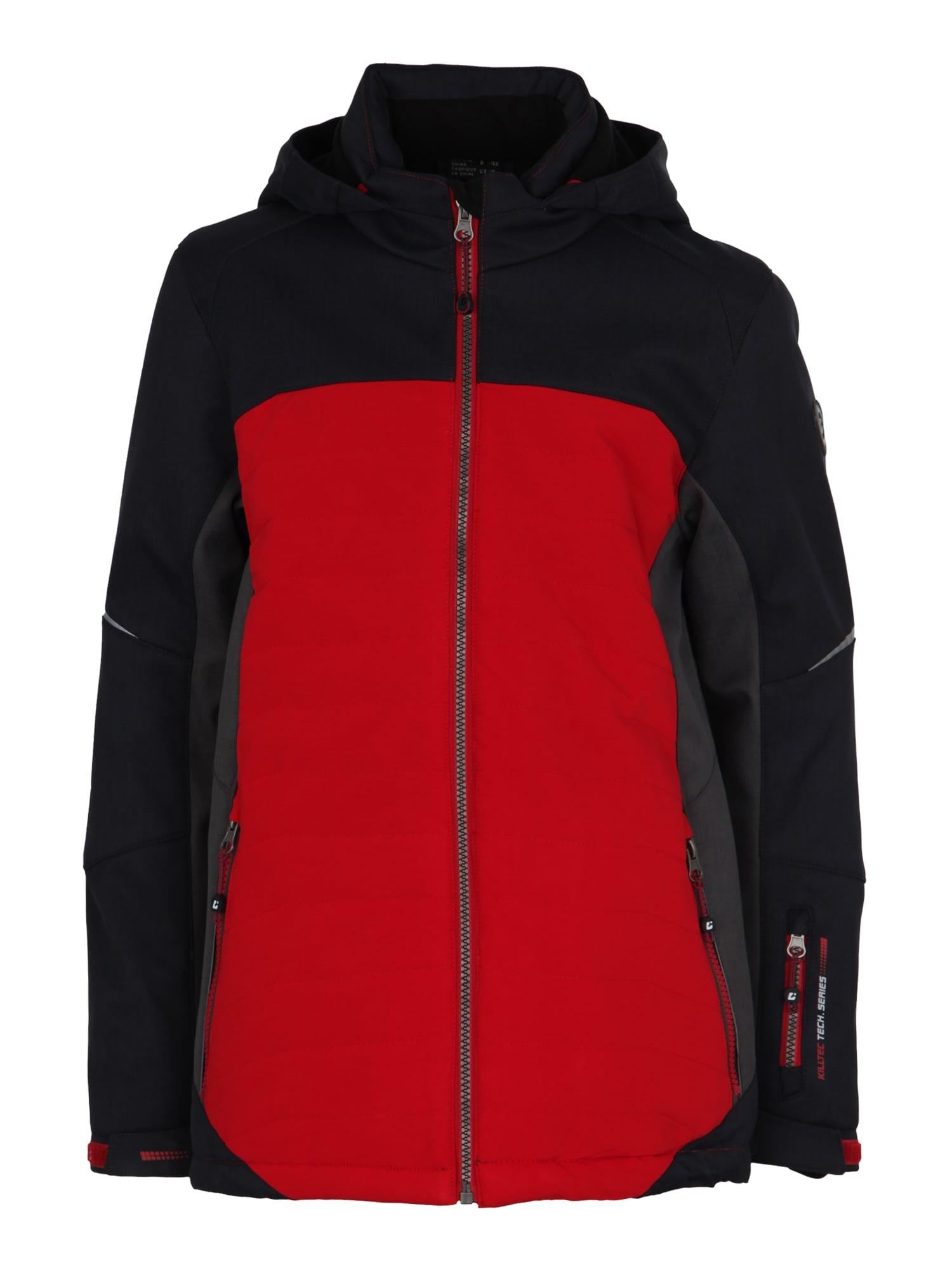 Outdoorová bunda Waylo světle červená černá KILLTEC