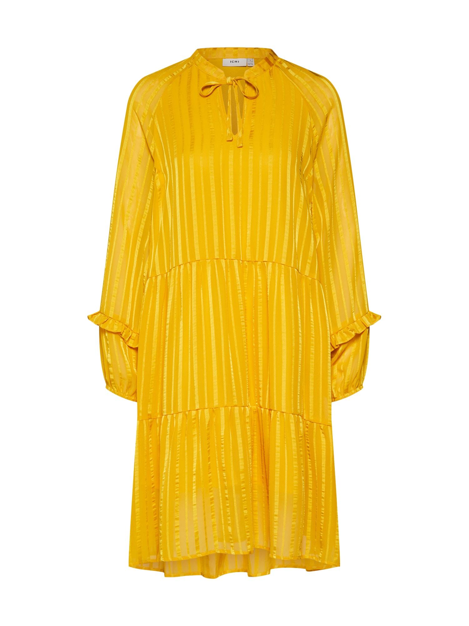 Letní šaty IXDONNA DR žlutá ICHI