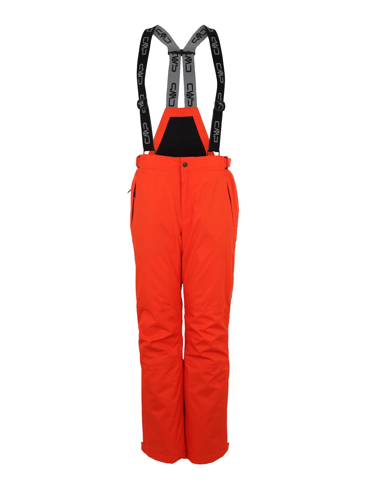 Outdoorové kalhoty MAN SKI SALOPETTE oranžová CMP
