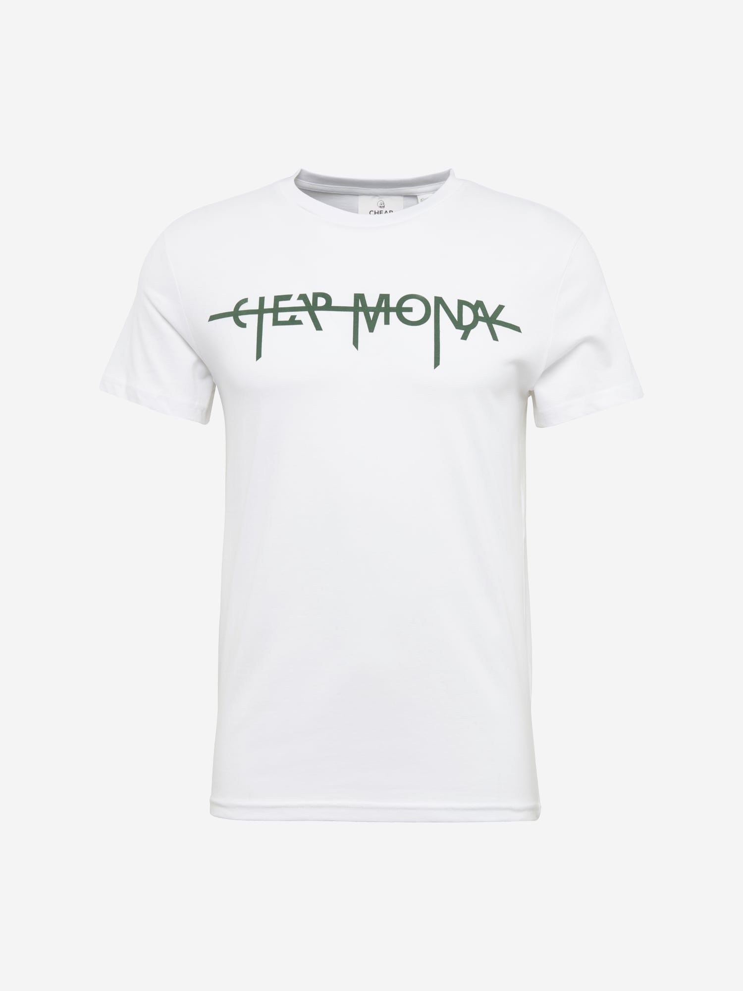 CHEAP MONDAY Heren Shirt Standard tee Hacker logo groen wit