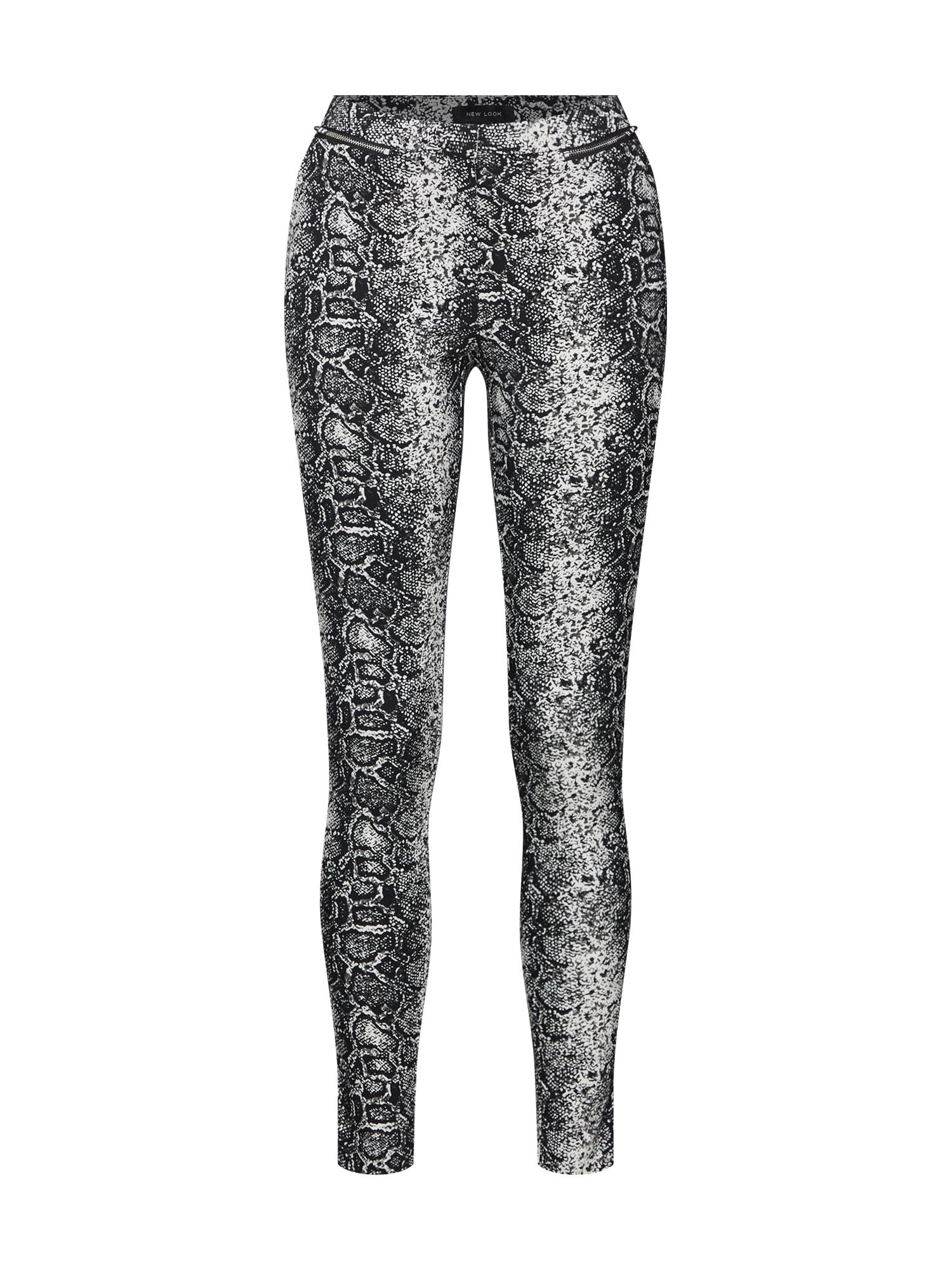 Kalhoty šedá černá bílá NEW LOOK