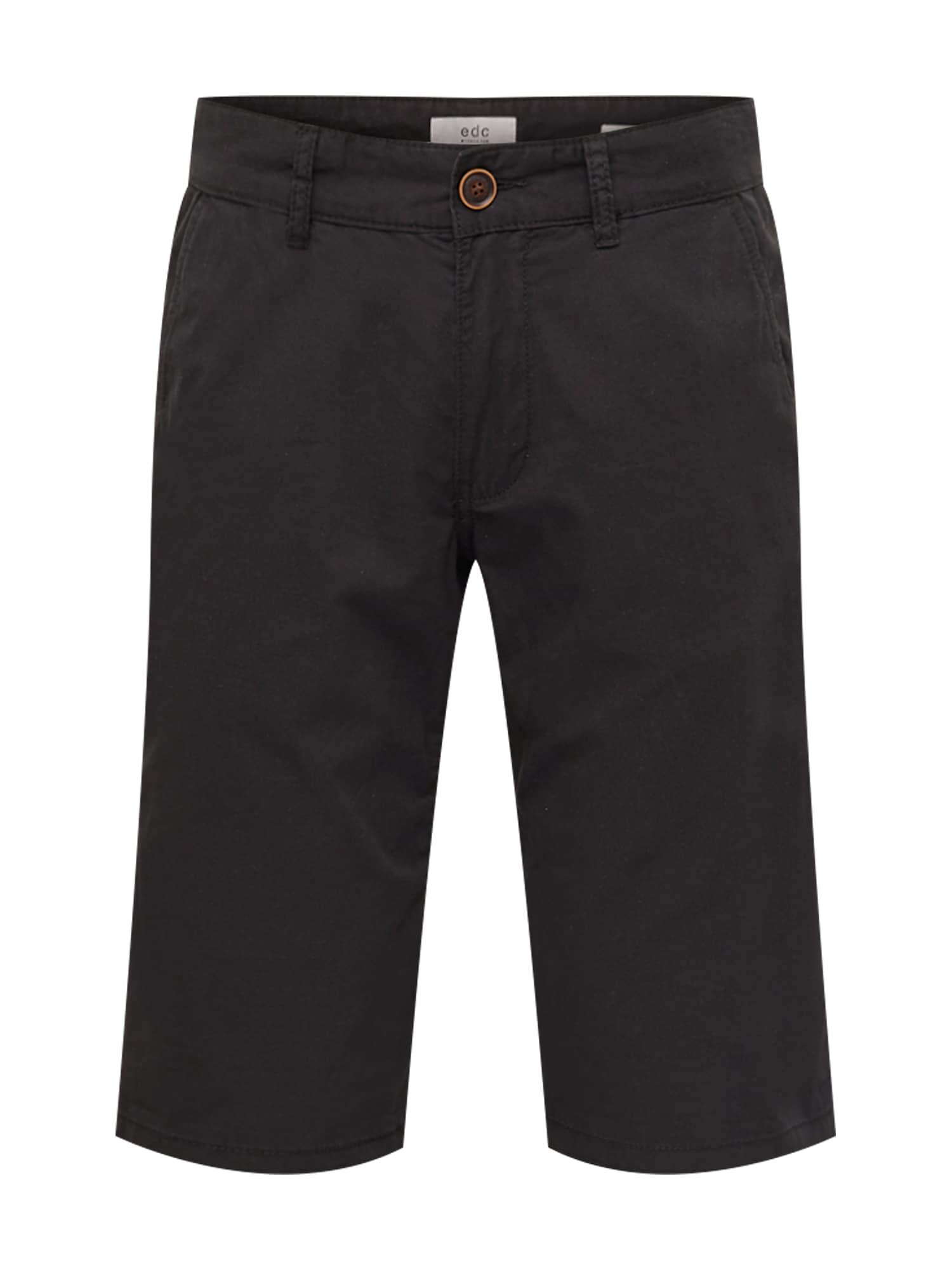 Chino kalhoty černá EDC BY ESPRIT