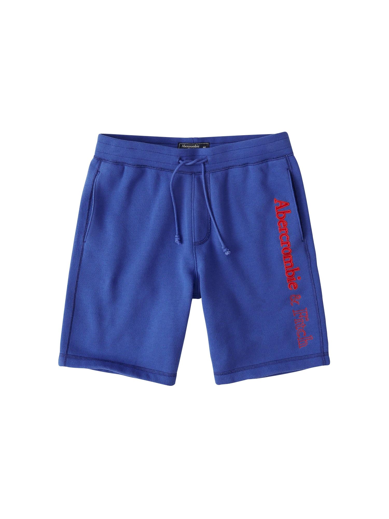 Kalhoty modrá Abercrombie & Fitch
