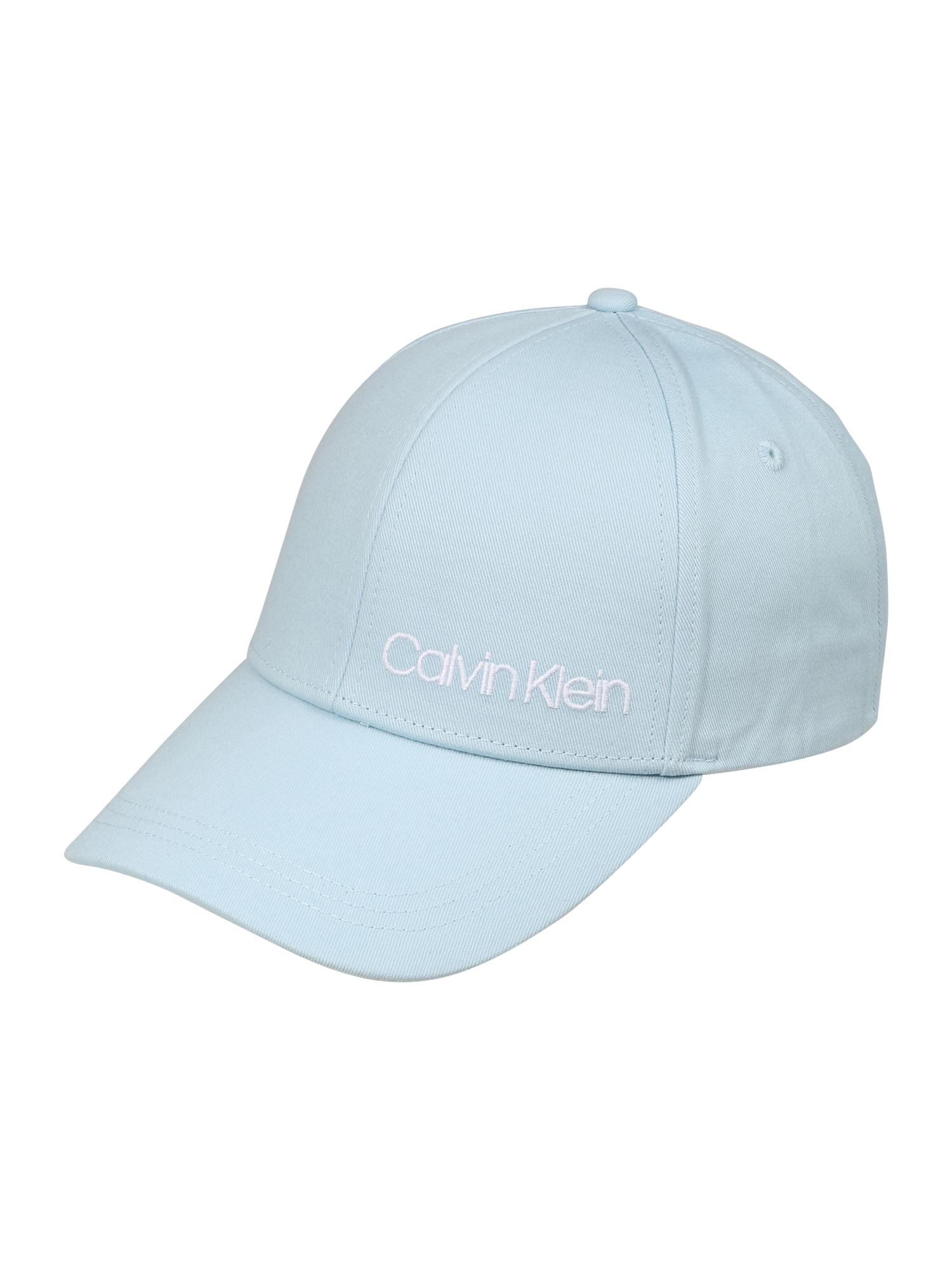 Čepice SIDE LOGO CAP světlemodrá Calvin Klein