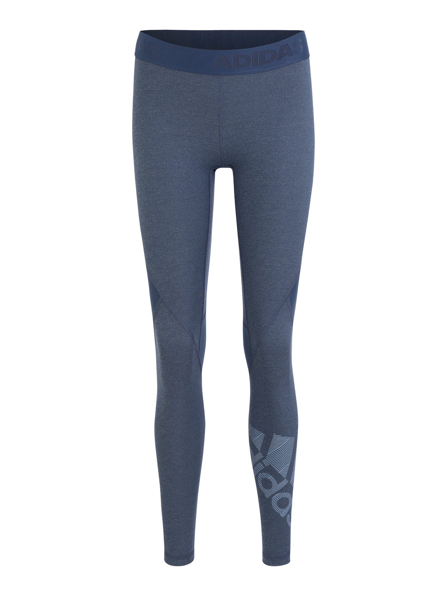 Sportovní kalhoty Alphaskin Badge kouřově modrá ADIDAS PERFORMANCE