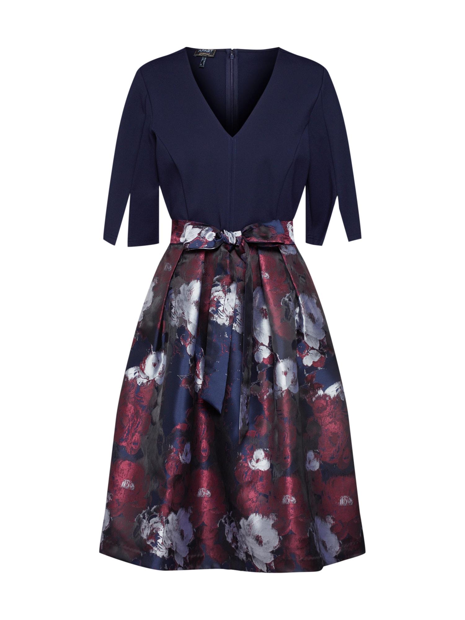 APART Sukienka koktajlowa  ciemny niebieski / szary / bordowy
