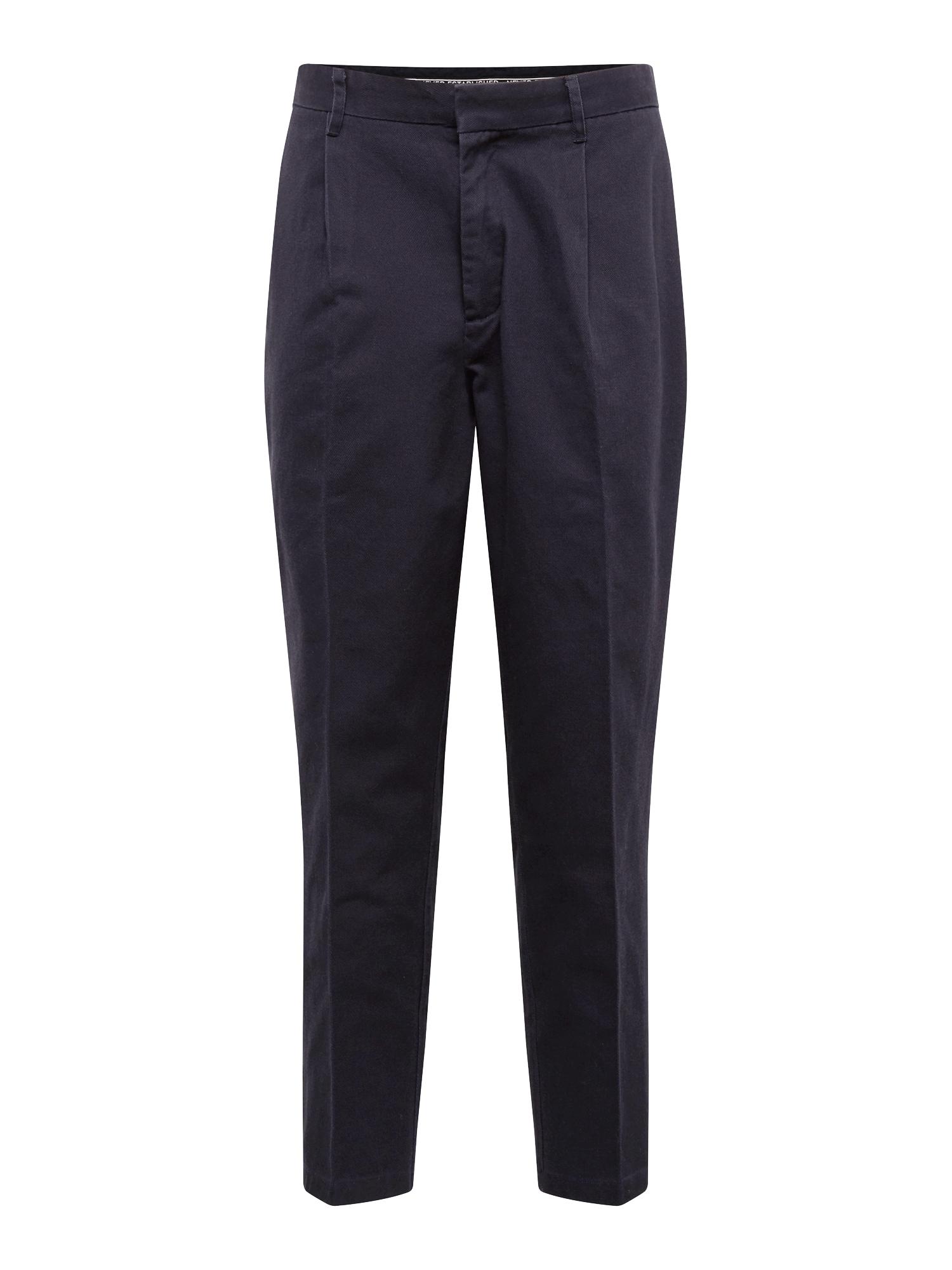 Kalhoty s puky WORKWEAR TWILL námořnická modř Review