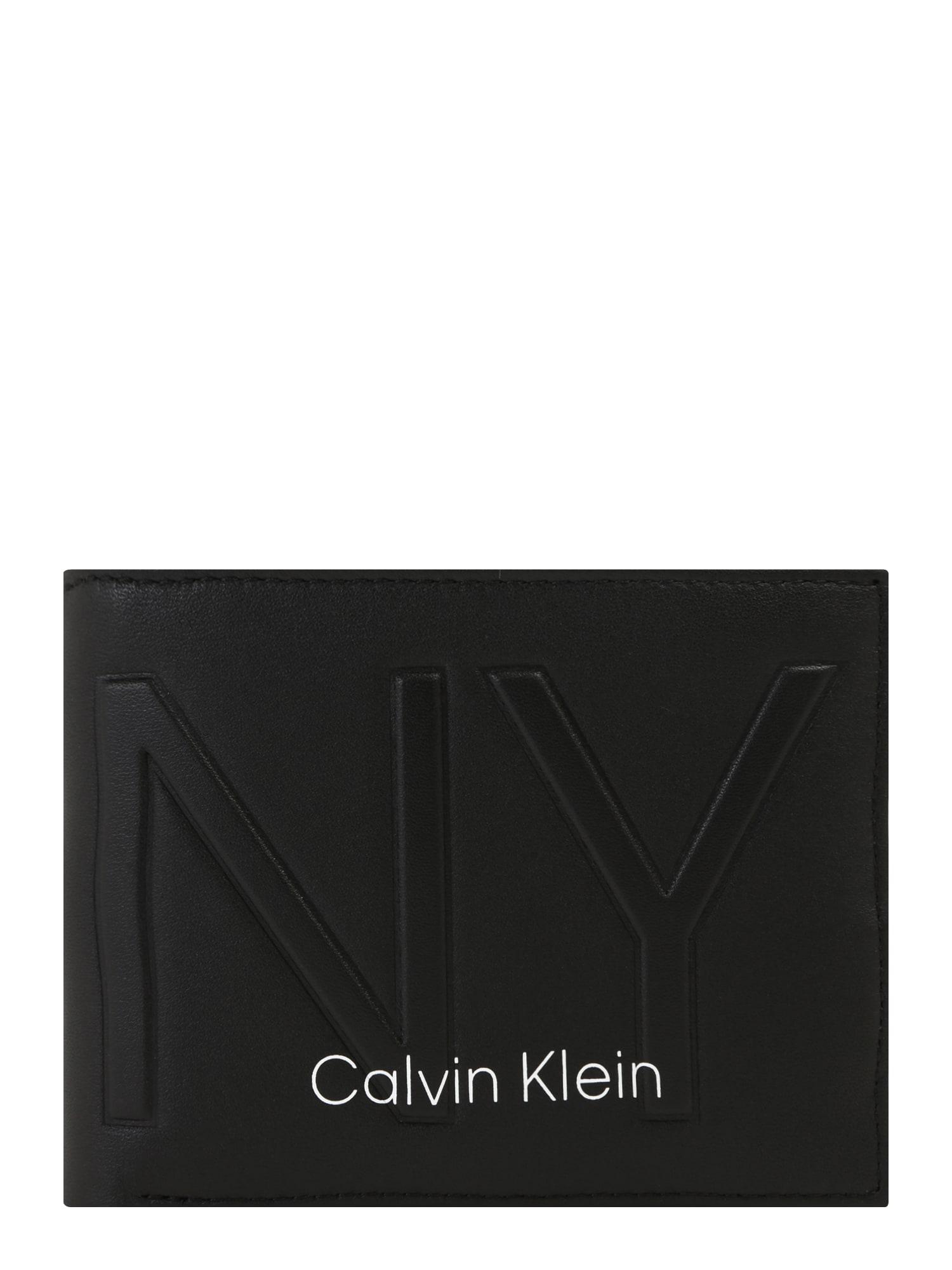 Calvin Klein Peněženka 'NY SHAPED 5CC W/ COIN'  černá