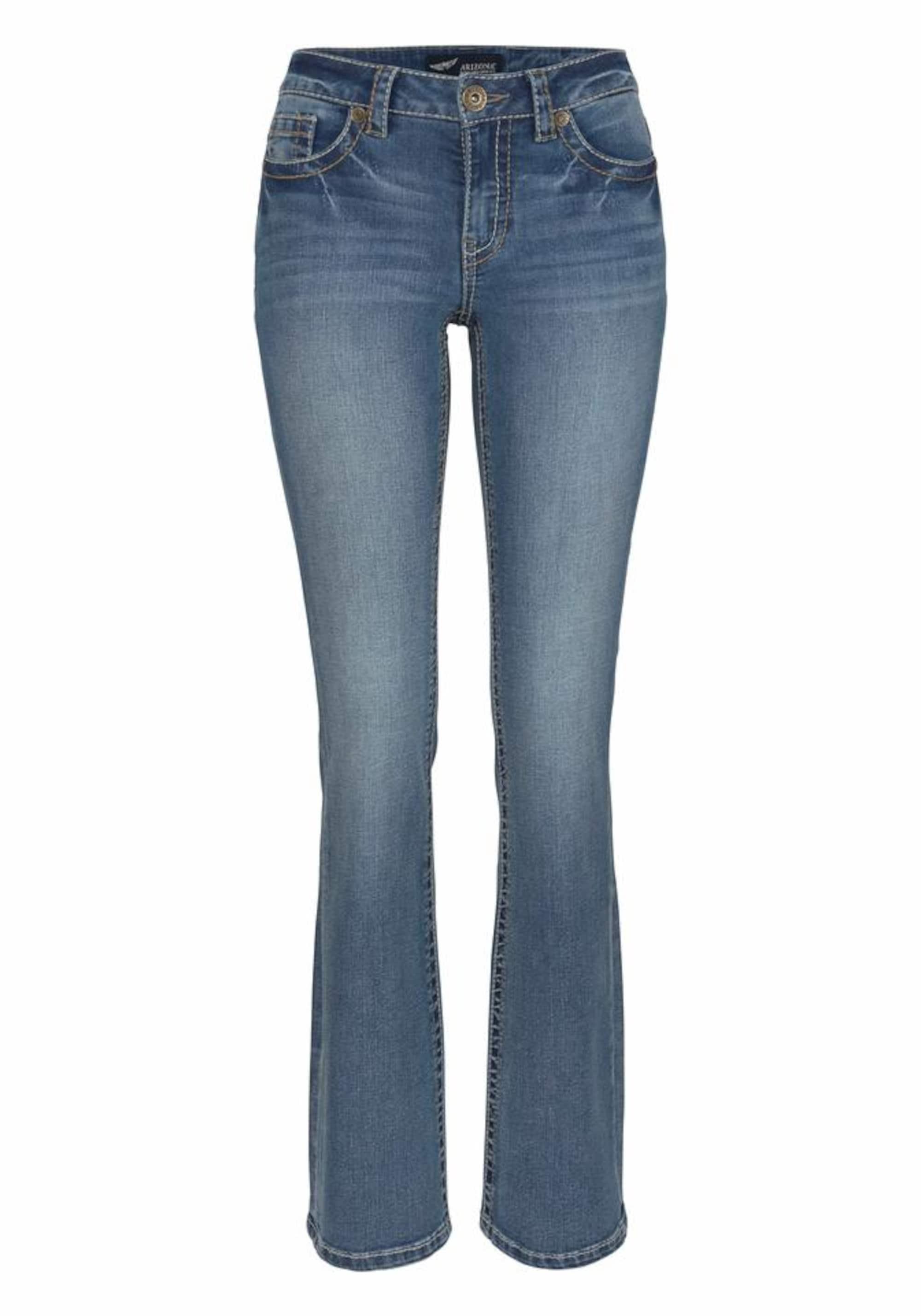Image of Bootcut-Jeans mit Kontrastnähten und Pattentaschen
