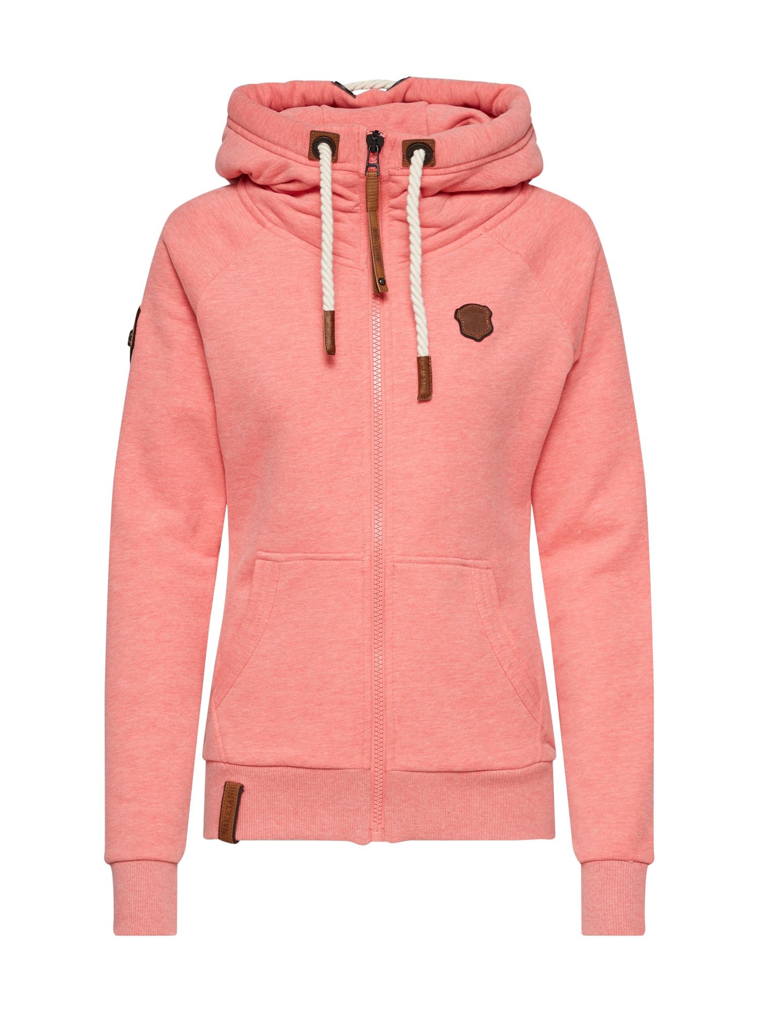 Mikina s kapucí Brazzo pink Naketano
