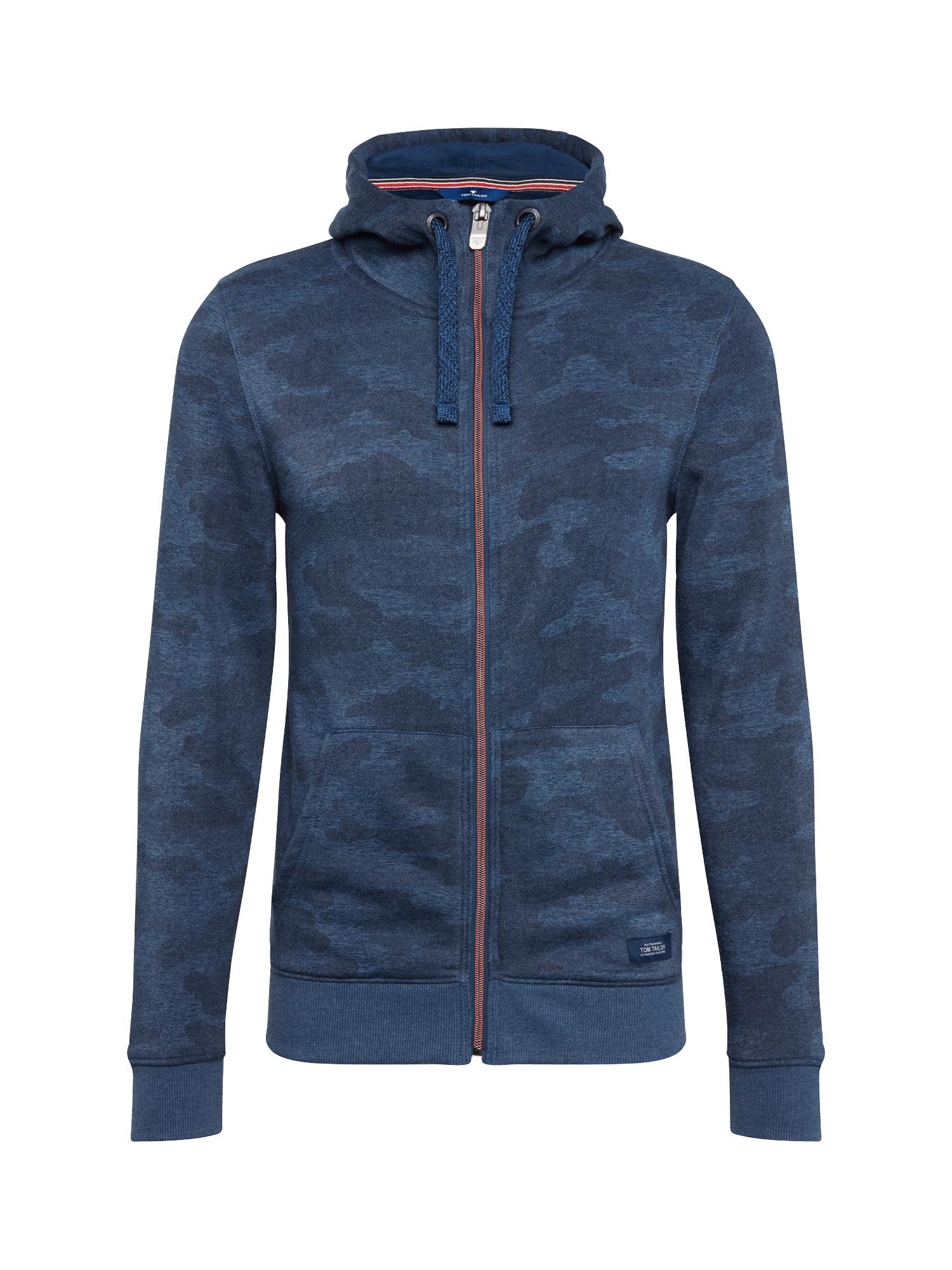 Mikina s kapucí camo hood jacket modrá TOM TAILOR