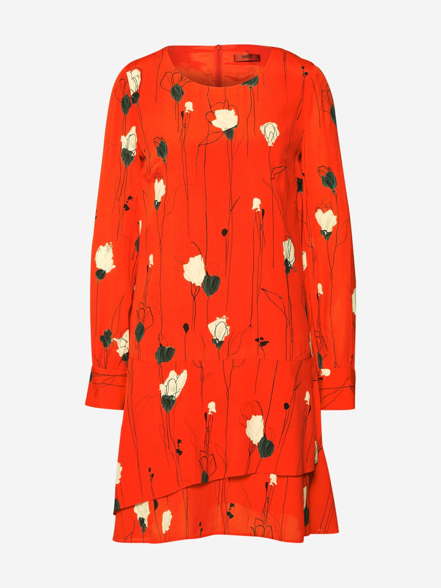 Šaty Klenani světle červená HUGO