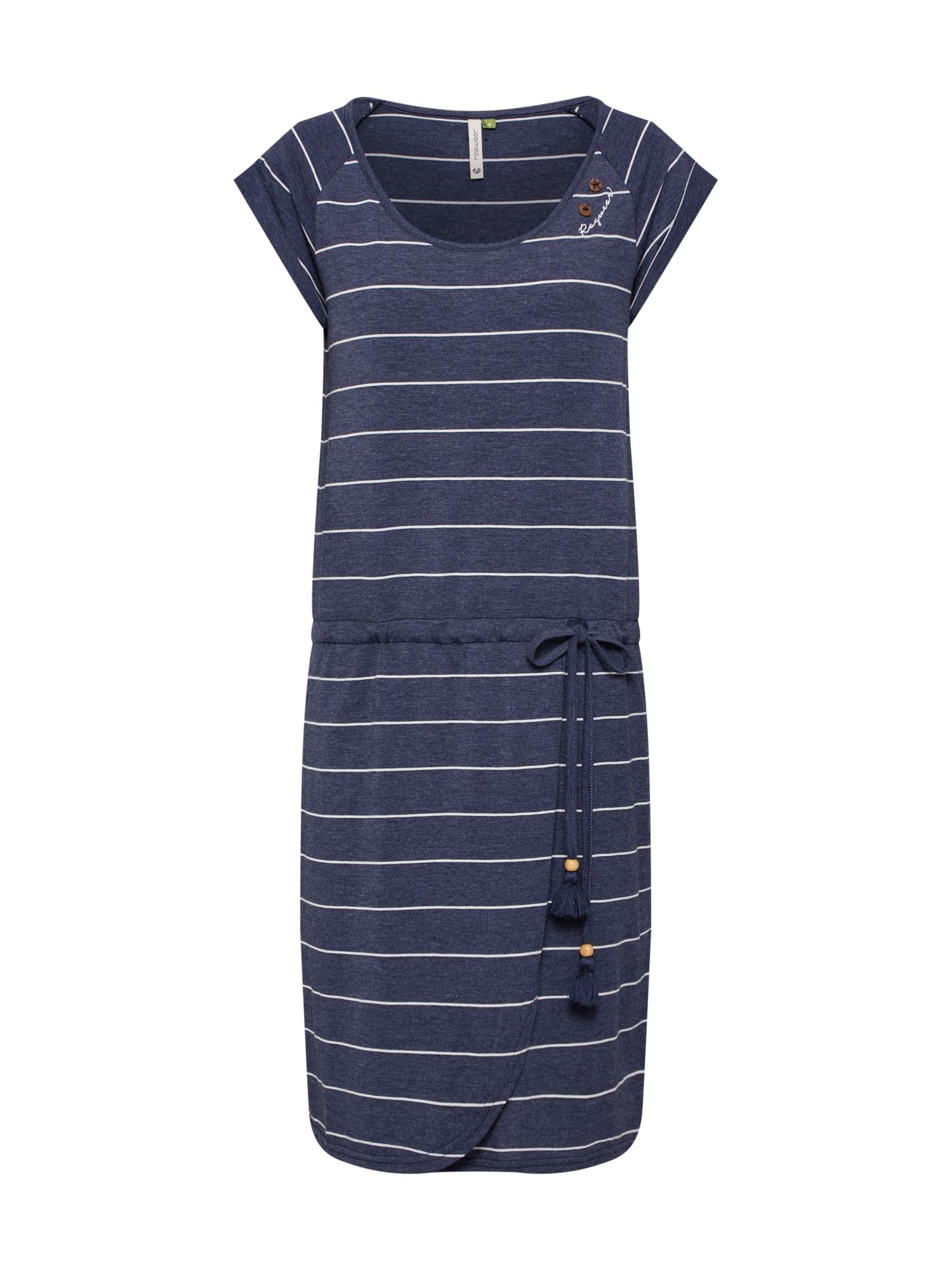 Letní šaty Glitter Organic námořnická modř bílá Ragwear