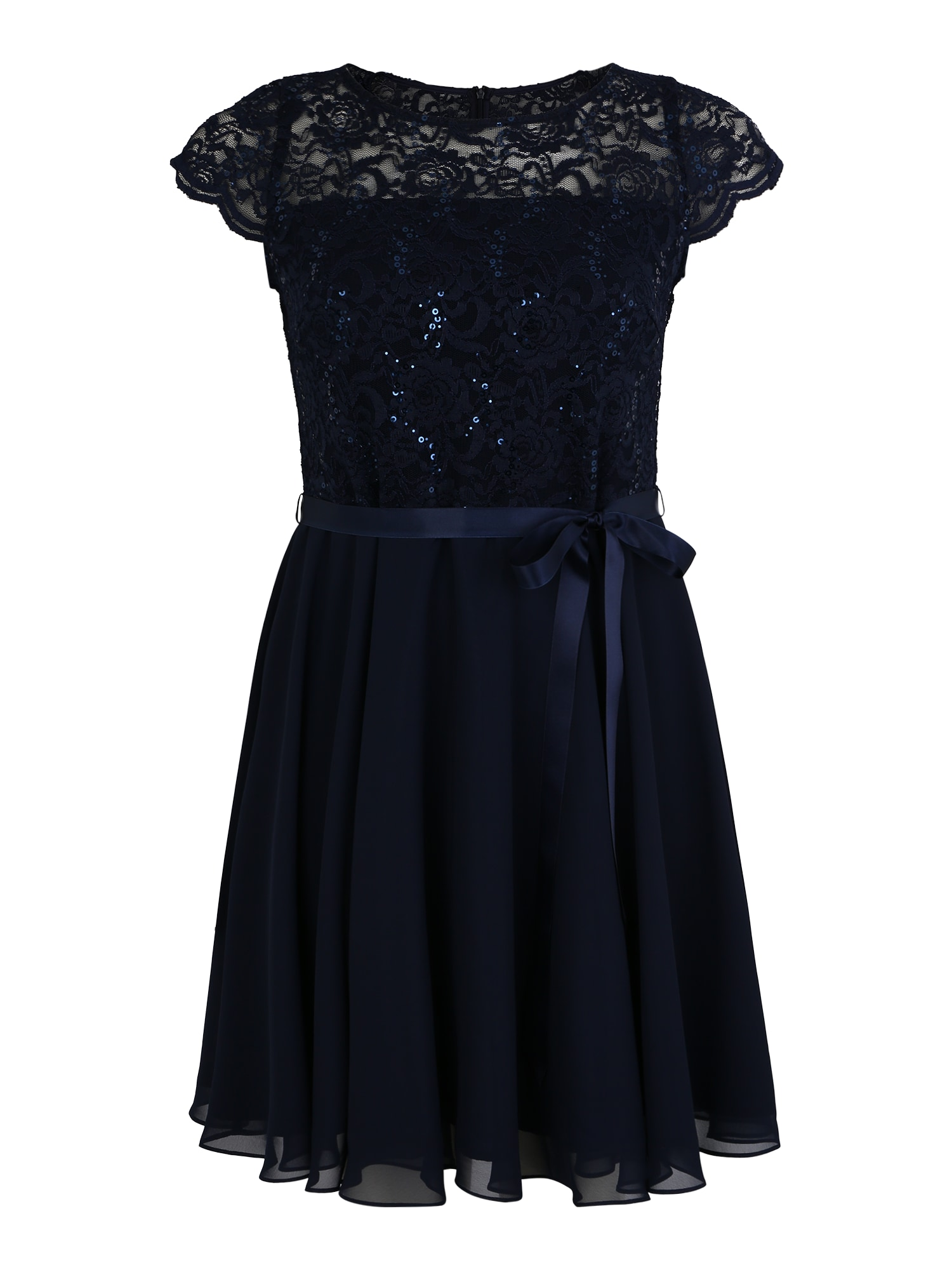 Koktejlové šaty marine modrá SWING Curve