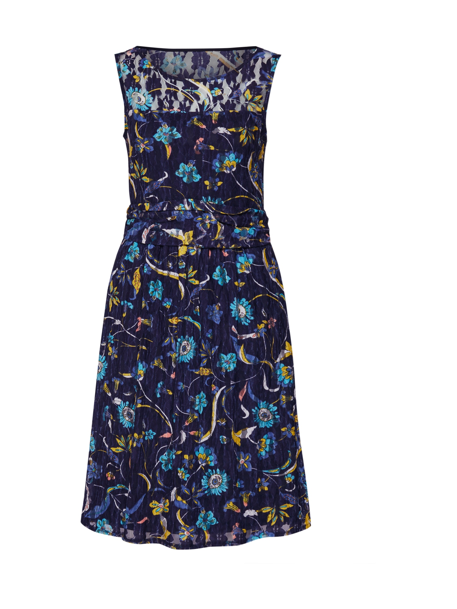 Esprit Collection Sukienka koktajlowa  ciemny niebieski / mieszane kolory