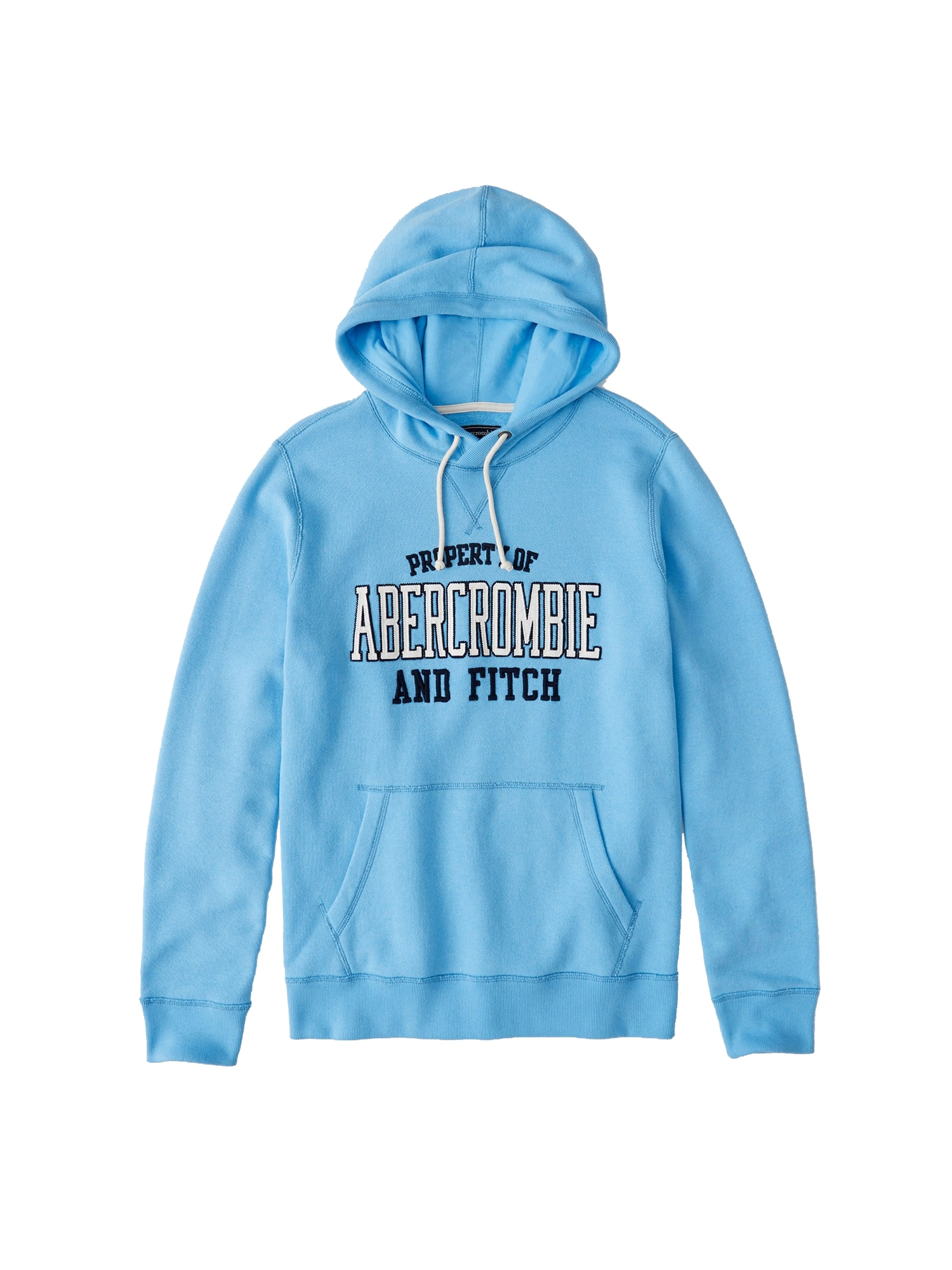 Mikina OLD SCHOOL LOGO POPOVER EXT  modrá Abercrombie & Fitch