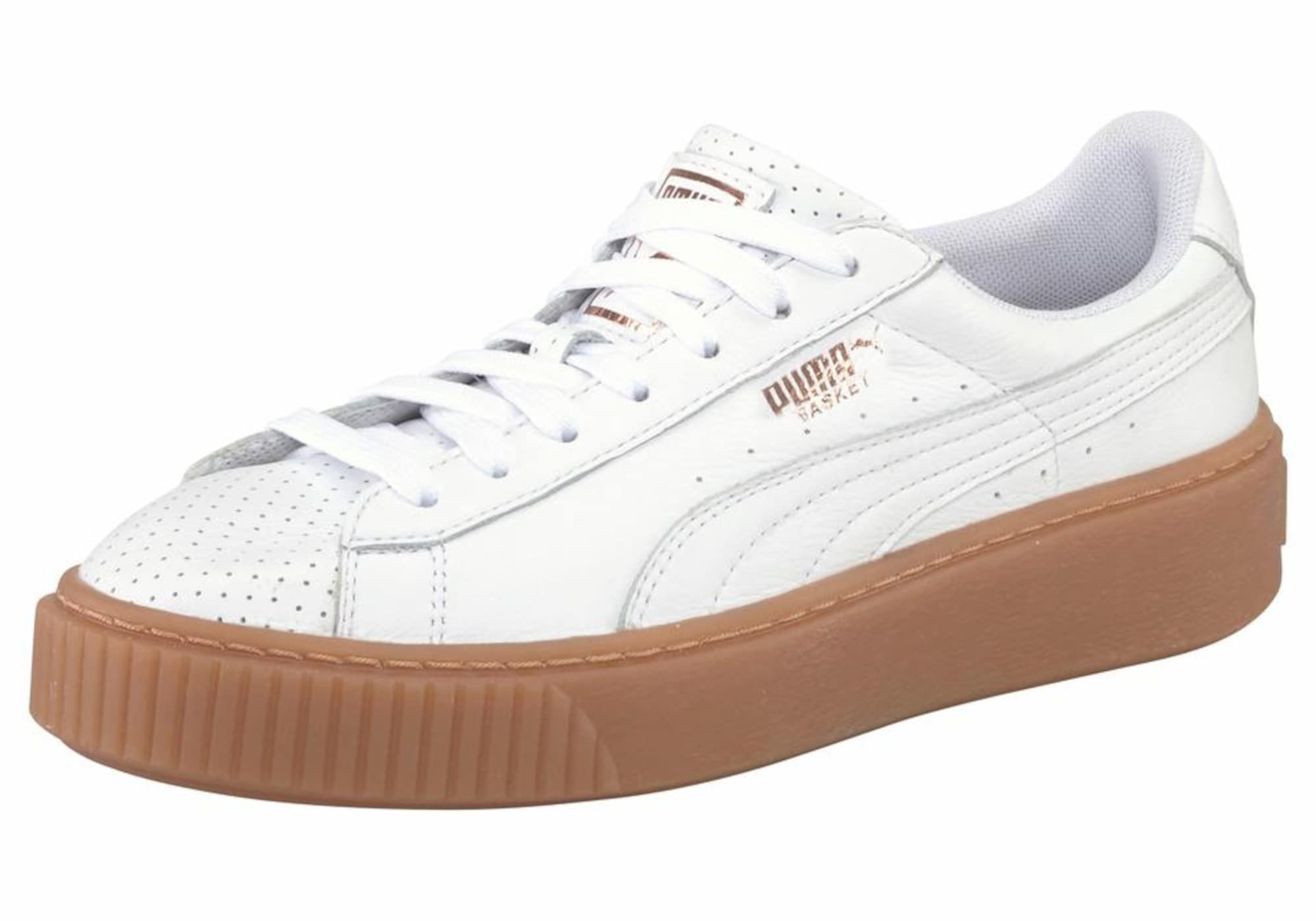 Lage Sneaker Wit Puma Basket Platform