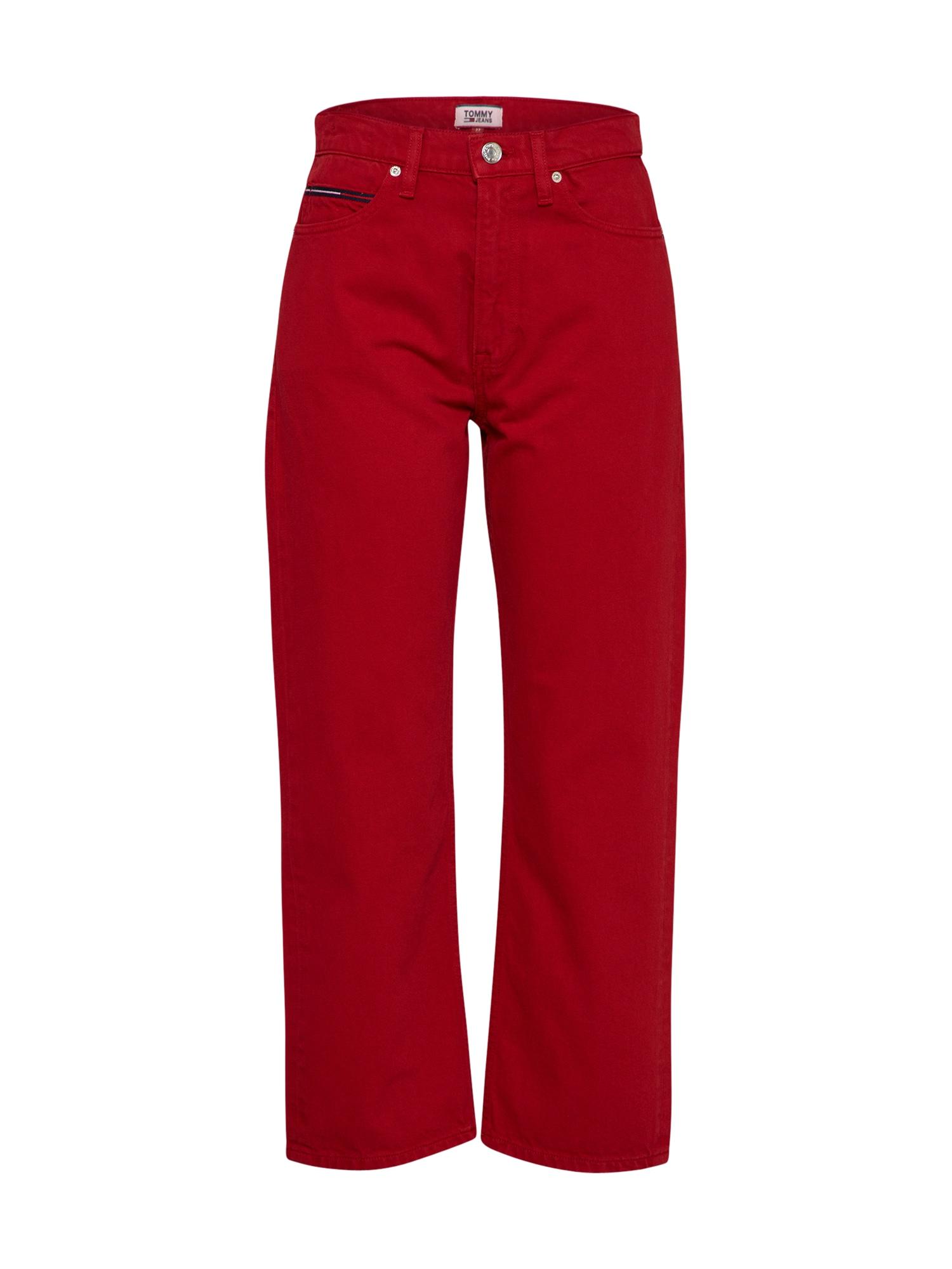 Džíny červená Tommy Jeans